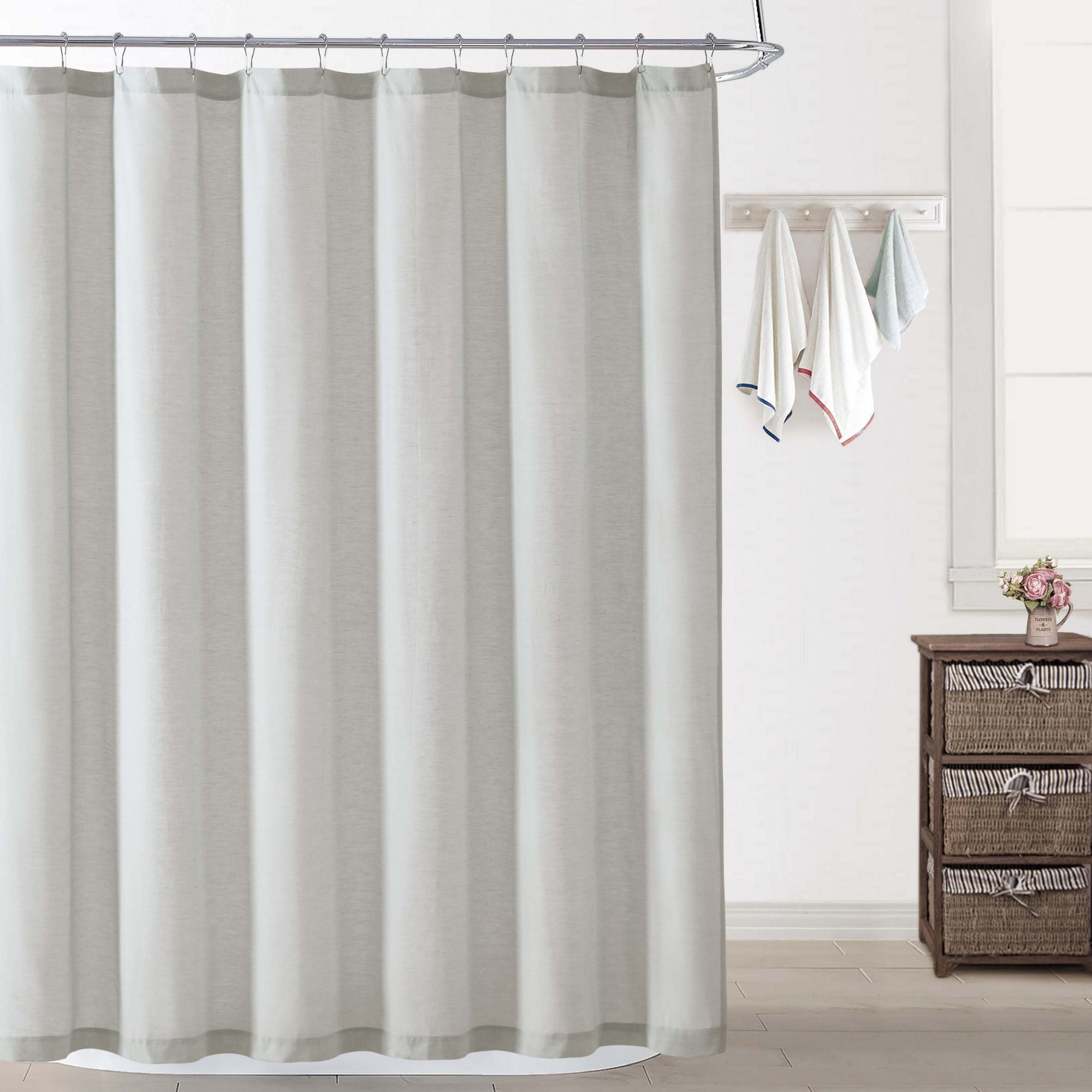 products shower curtains linen garment home lp white waffle washed curtain parachute