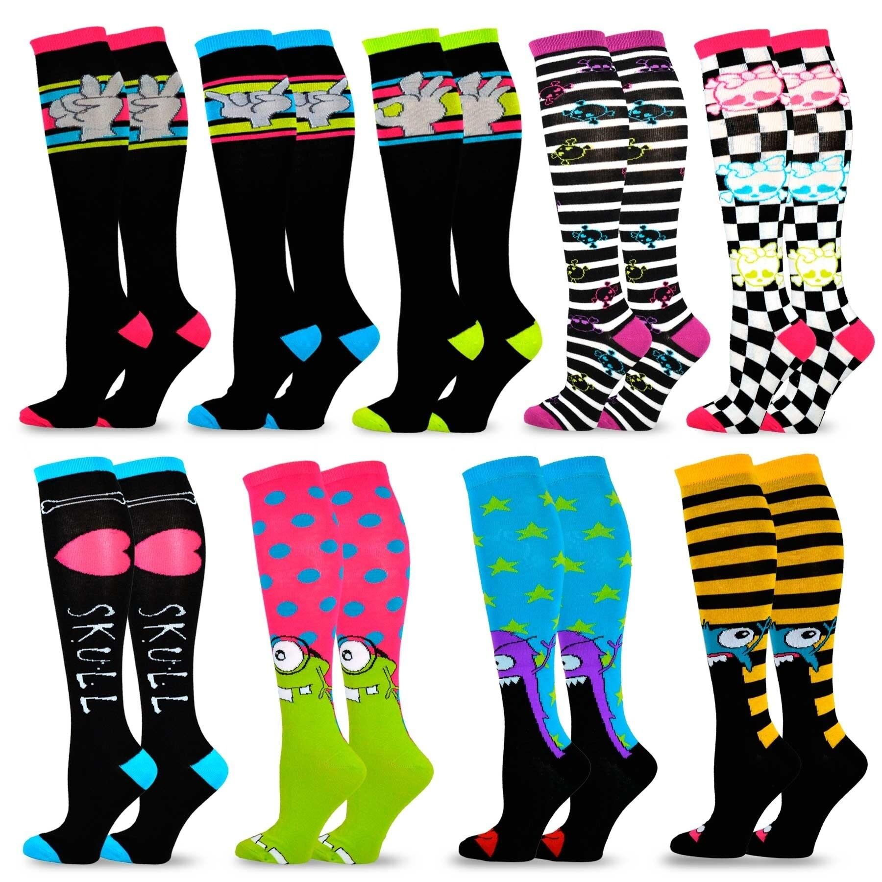 9cb9827489e Shop TeeHee Special (Holiday) Women Knee High 9-Pairs Socks - Free Shipping  On Orders Over  45 - Overstock - 20410821