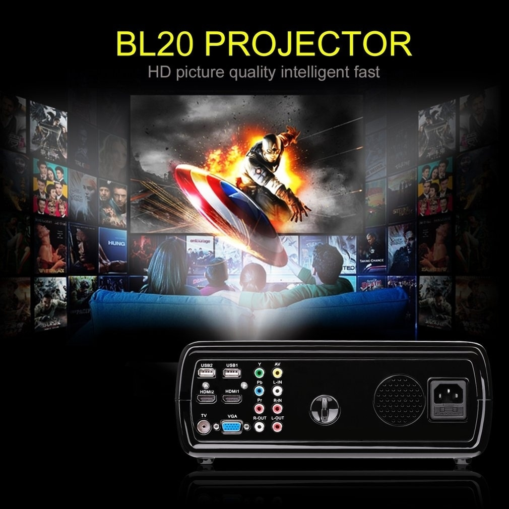 13fbe988af7e5b Shop Home Cinema 3D Video Projector 2600 Lumen Support 1080P Full HD - Free  Shipping Today - Overstock - 20439231