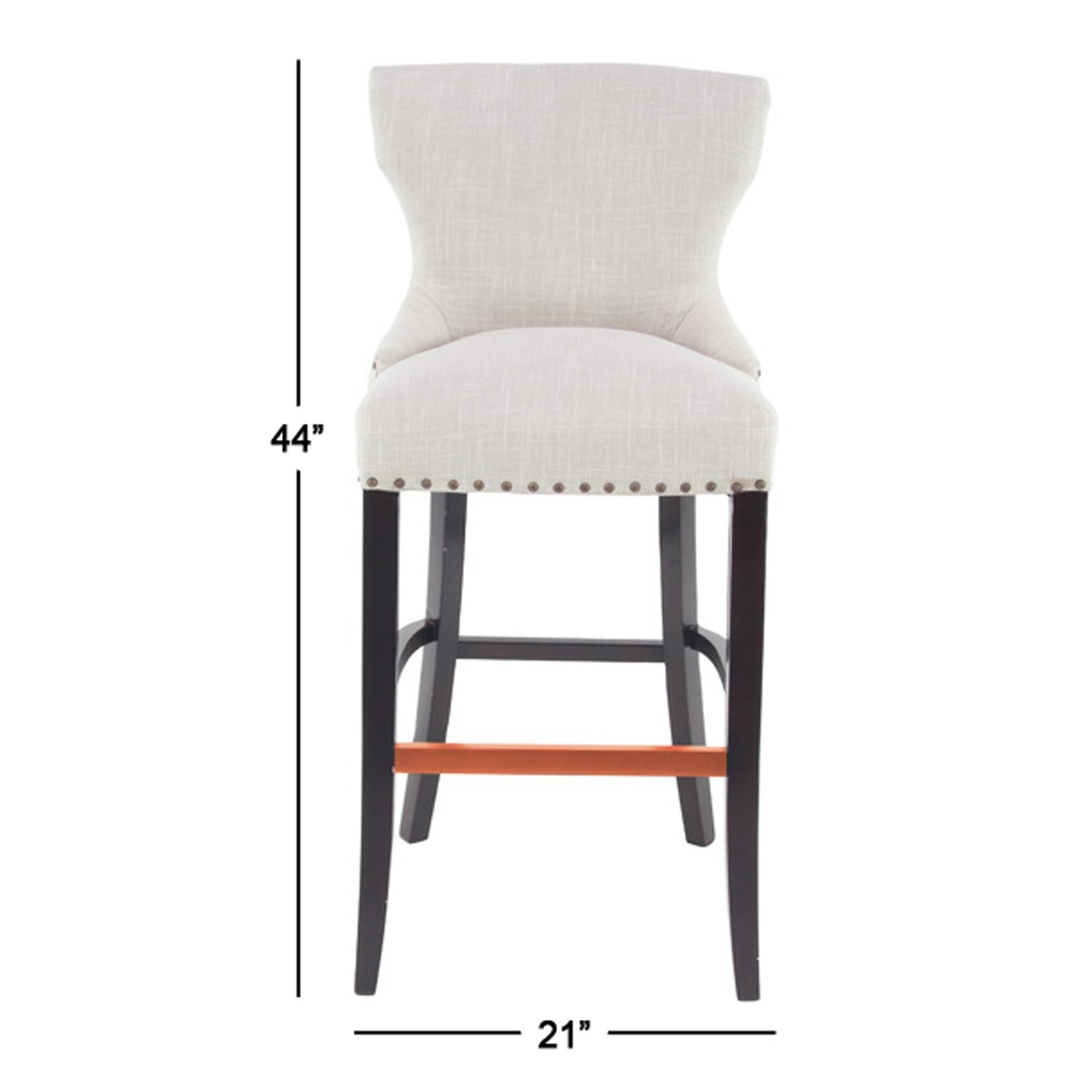 Shop Eclectic 44 X 21 Inch White Wingback Bar Stool Free Shipping