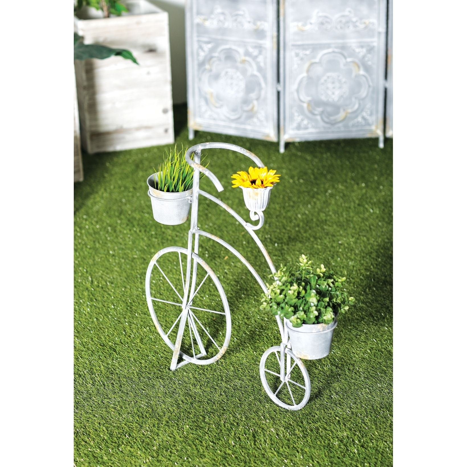 Shop Rustic 26 X 27 Inch Penny Farthing Bicycle Metal Planter By