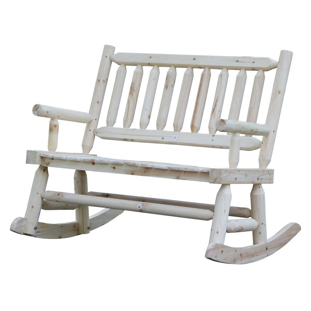 Merveilleux Shop Wooden Rocking Chair With Natural Material Comfortable Oversized Patio  Furniture, Double   On Sale   Free Shipping Today   Overstock.com   20445436