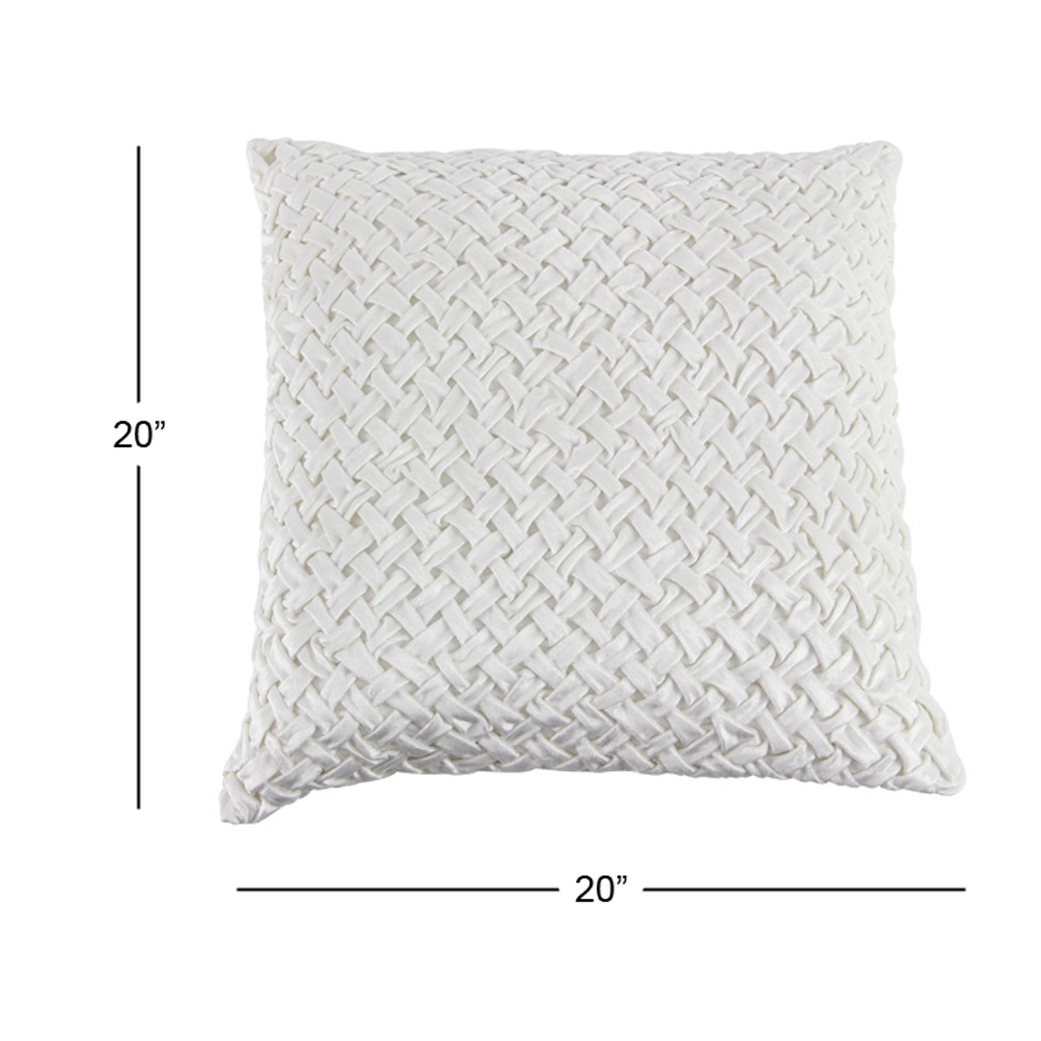 Shop Modern 20 x 20 Inch Square White Smocking Work Pillow - Free Shipping  Today - Overstock.com - 20445574