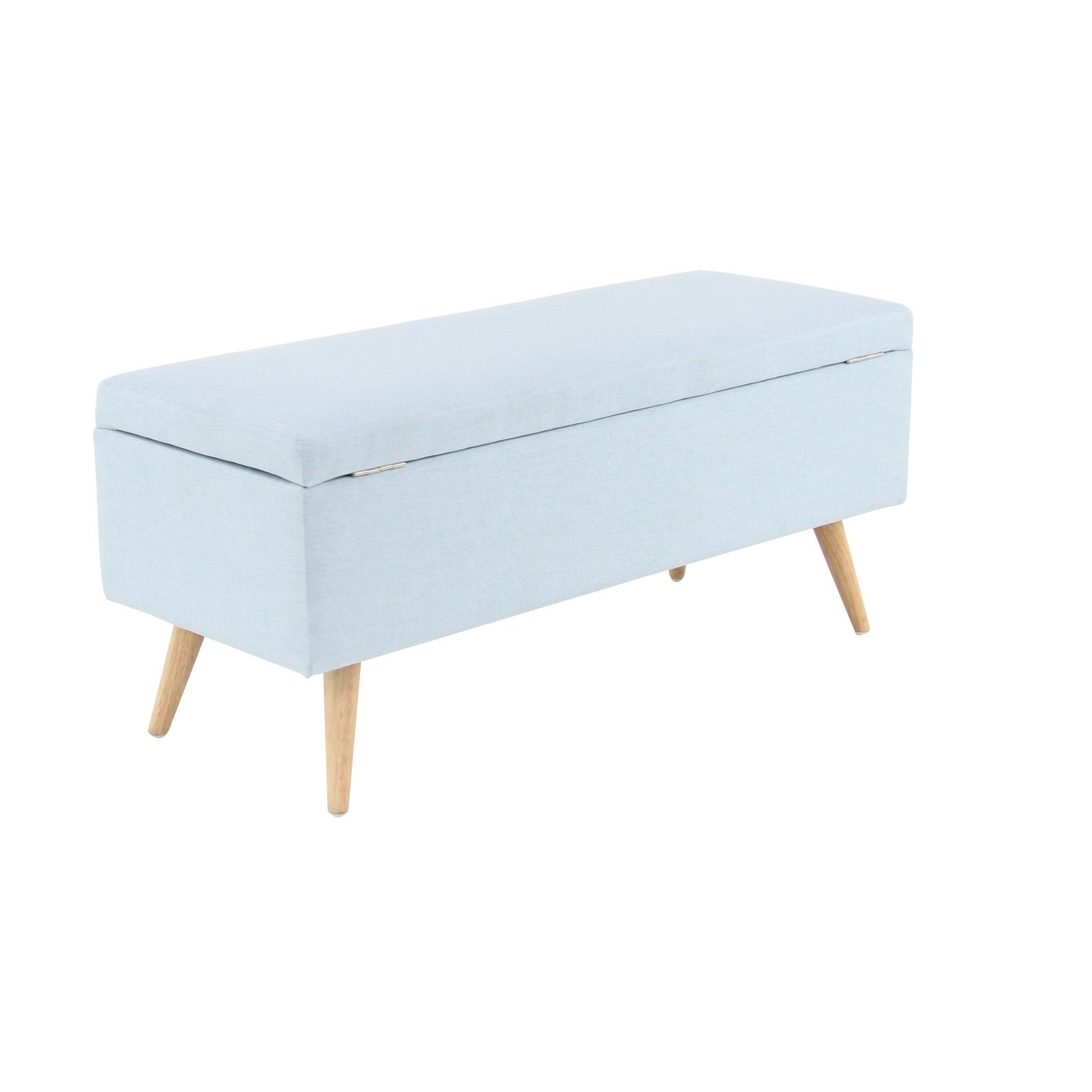 Shop Contemporary 20 X 33 Inch Rectangular Blue Storage Bench By