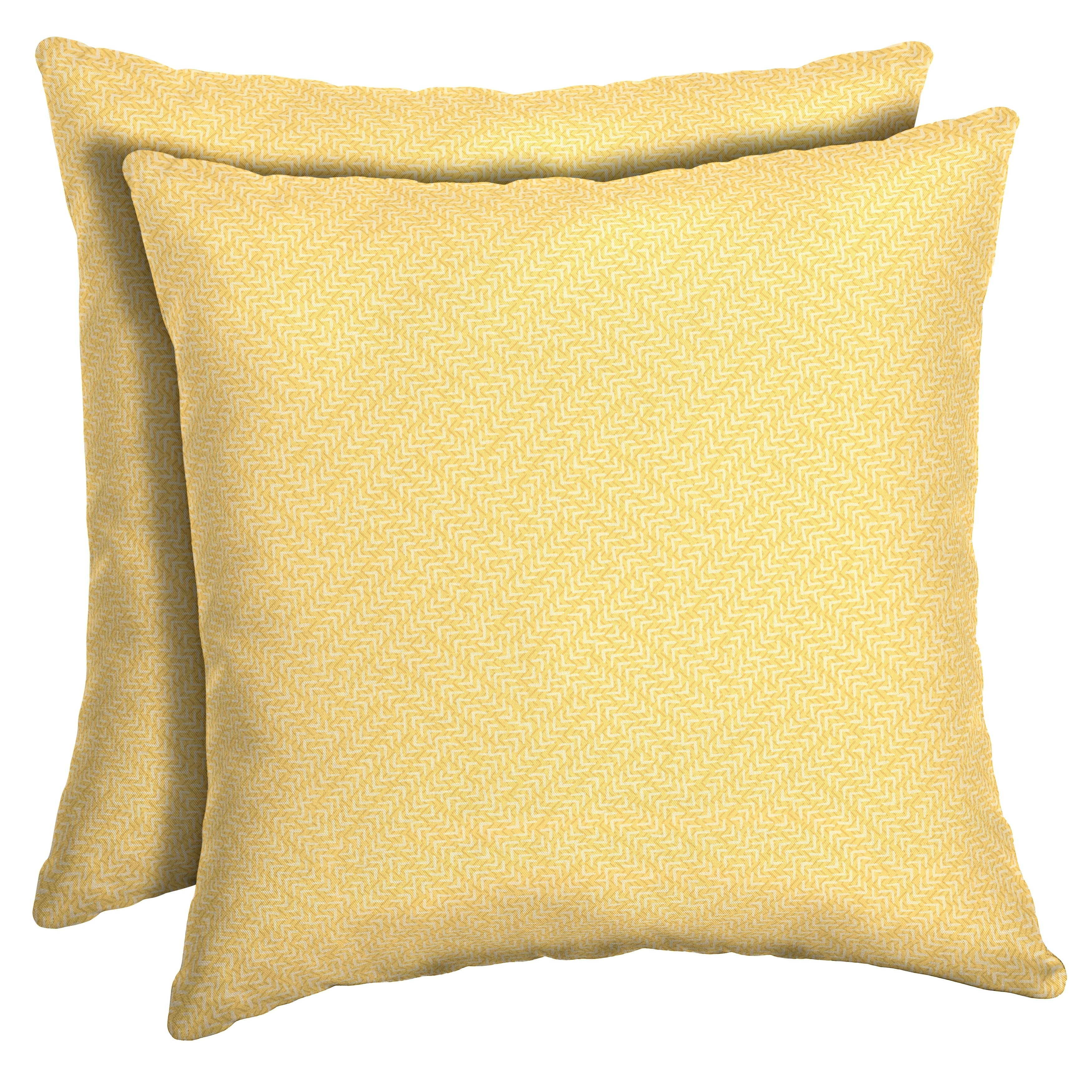 Shop Arden Selections Shirt Texture Outdoor Square Pillow 2 Pack