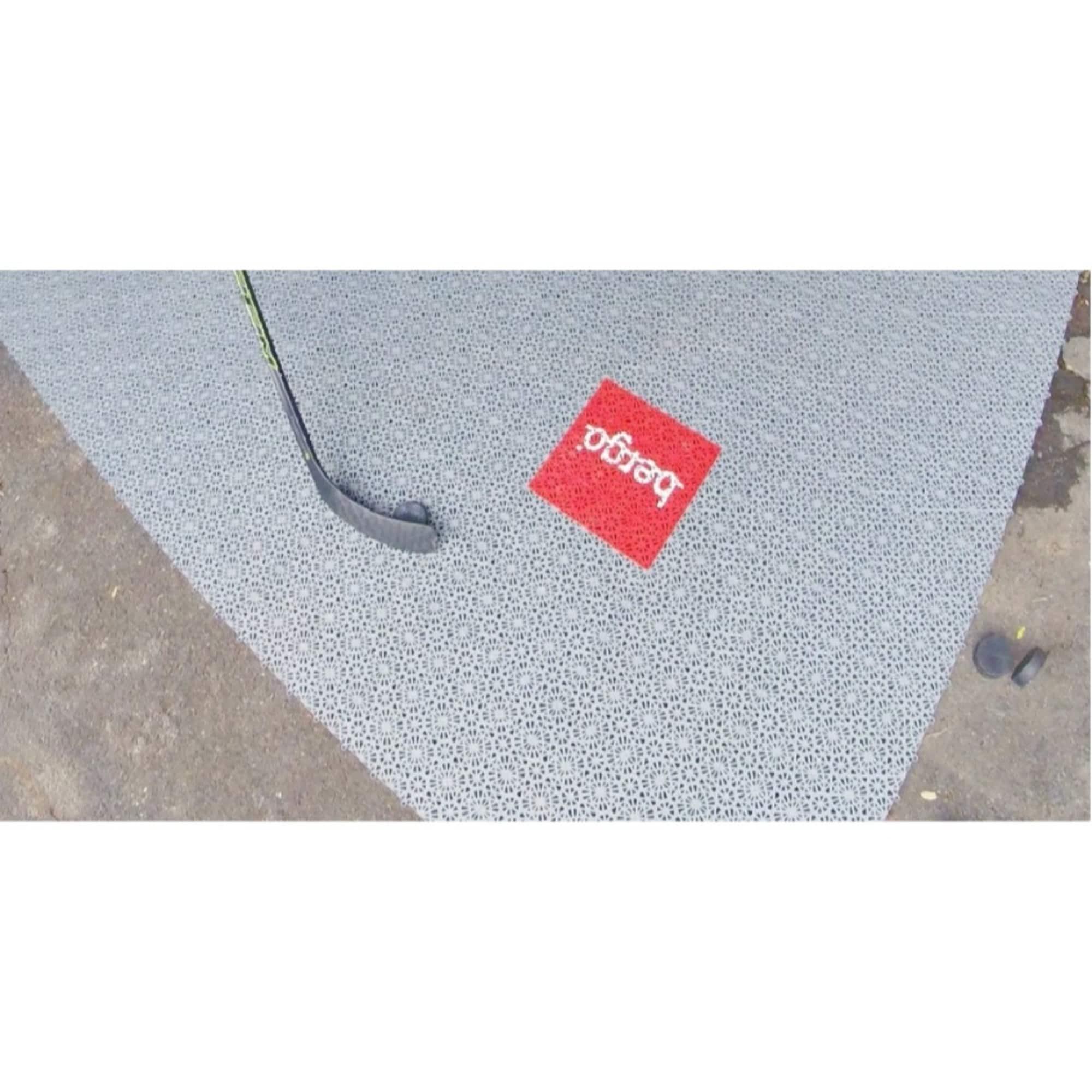 Shop Mats Inc Sure Shot Hockey Practice Floor Tiles Silver 6 X 9