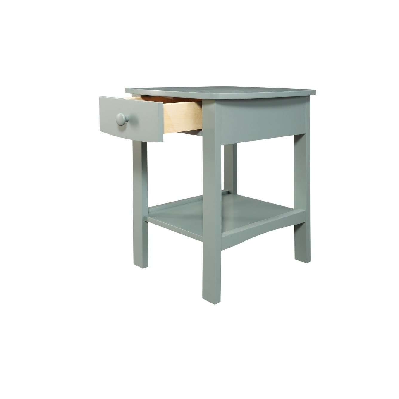 Shop Emerald Home Decor White Nightstand With Open Shelf And Wood Hardware 1 Drawer