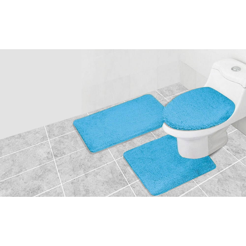 3 Piece Frisco Acrylic Bath Rug Set - Free Shipping On Orders Over ...