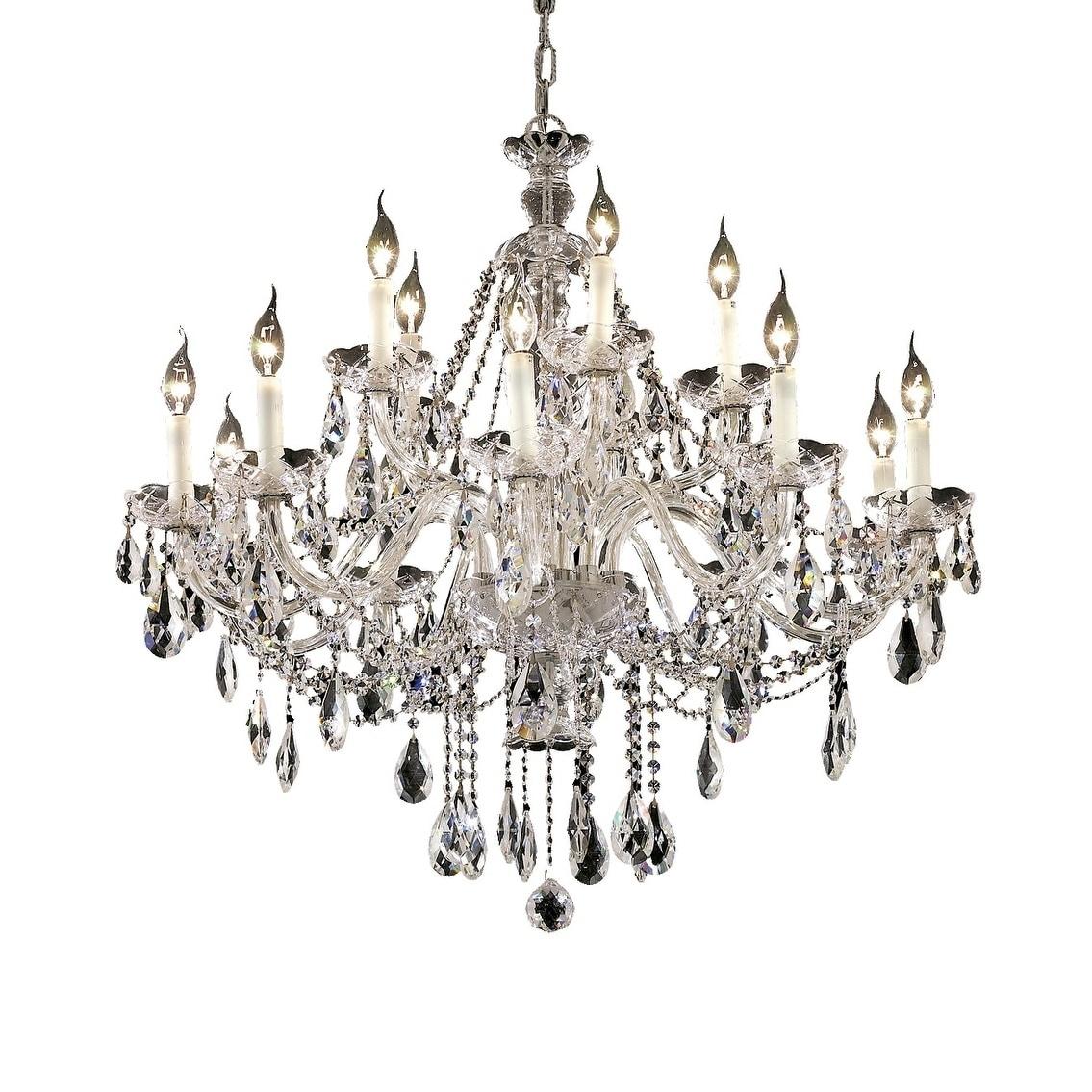 Shop fleur illumination 15 light chrome chandelier free shipping today overstock 20457068