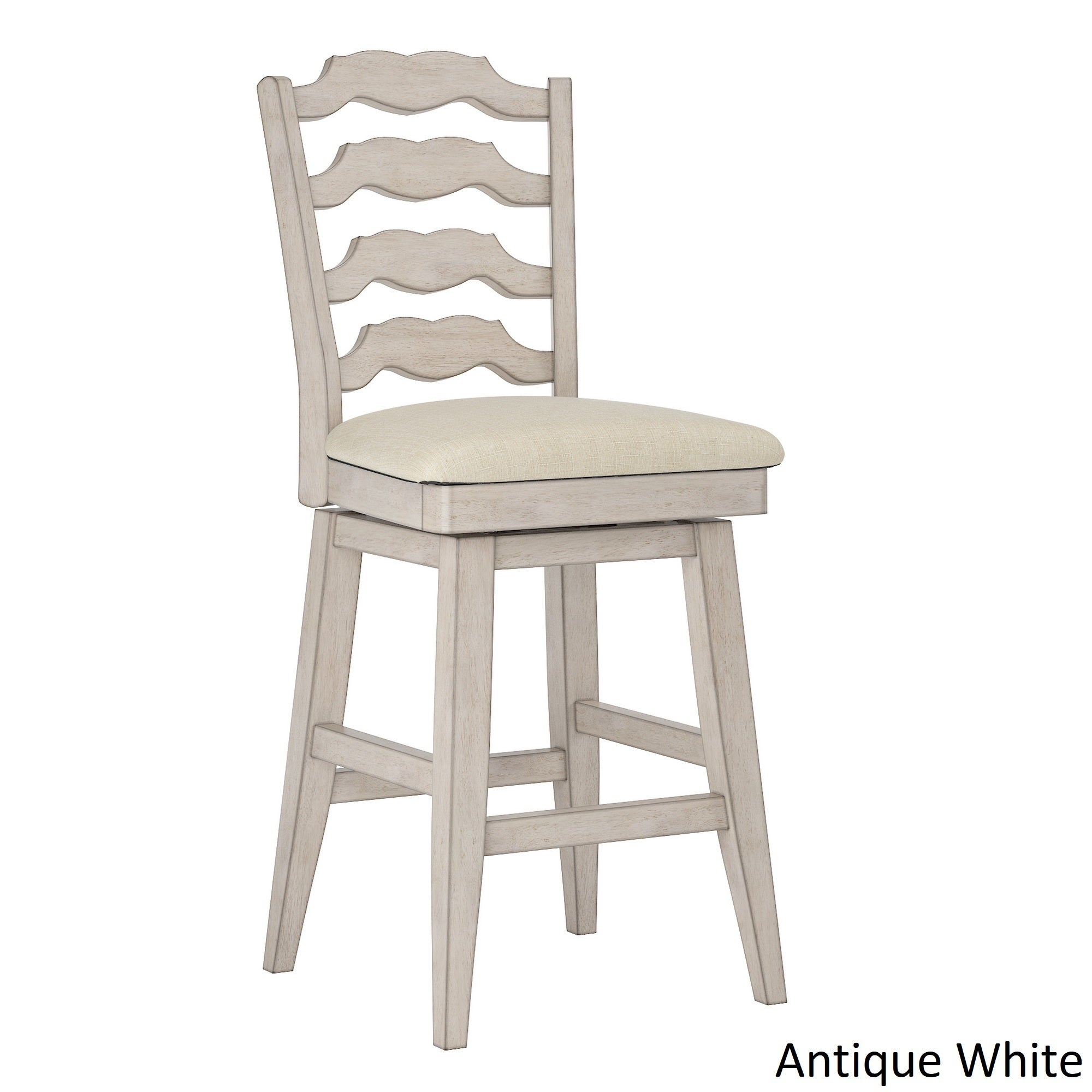 Shop Eleanor French Ladder Back Counter Height Swivel Chair By INSPIRE Q  Classic   Free Shipping Today   Overstock.com   20457183