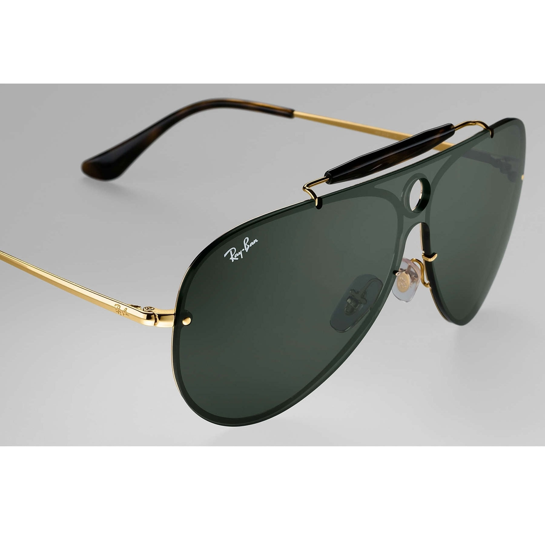 b865f06fb2 ... coupon shop ray ban rb3581n blaze shooter sunglasses gold green classic  32mm black free shipping today