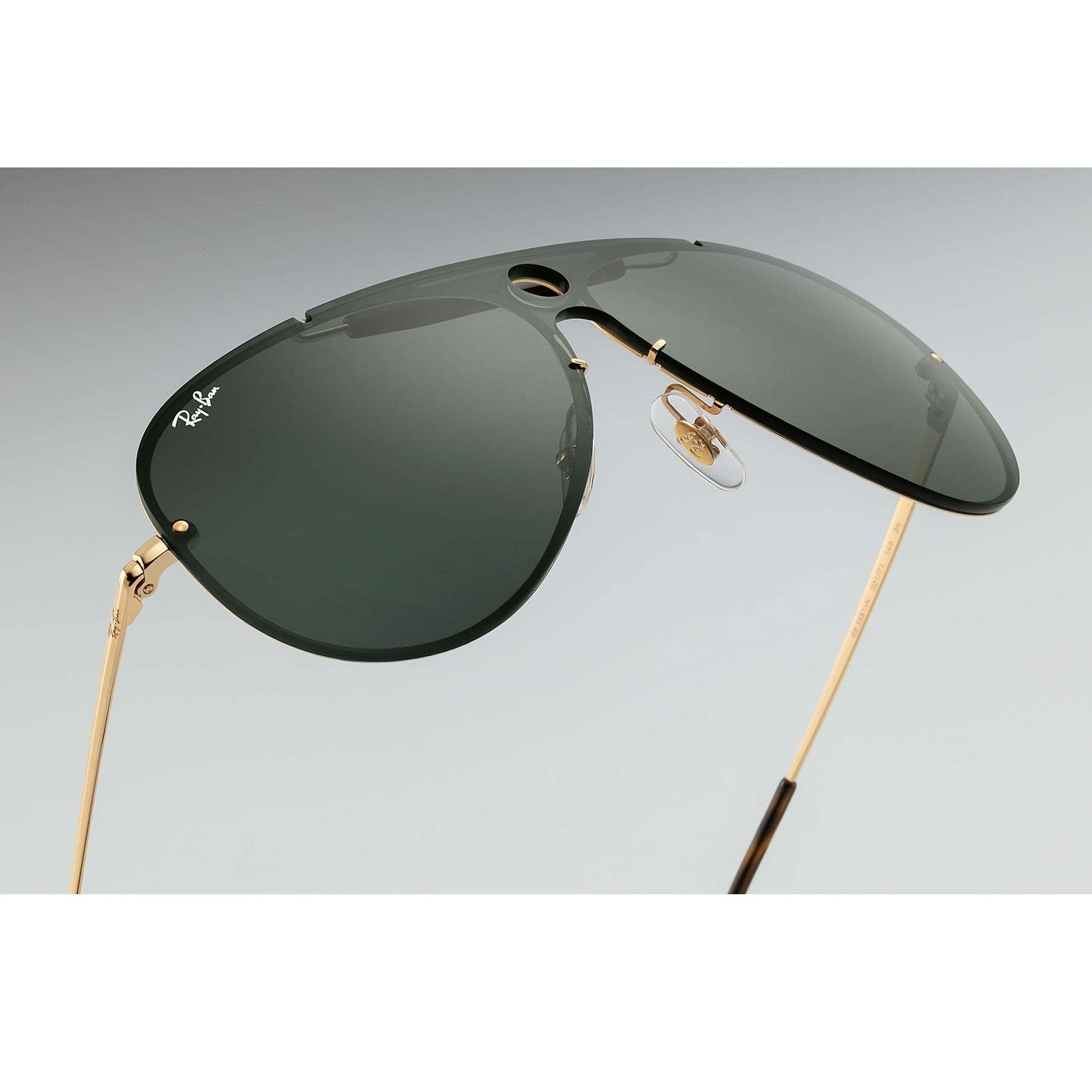 e3a5574bfef Shop Ray-Ban RB3581N Blaze Shooter Sunglasses Gold  Green Classic 32mm -  Black - Free Shipping Today - Overstock - 20457186