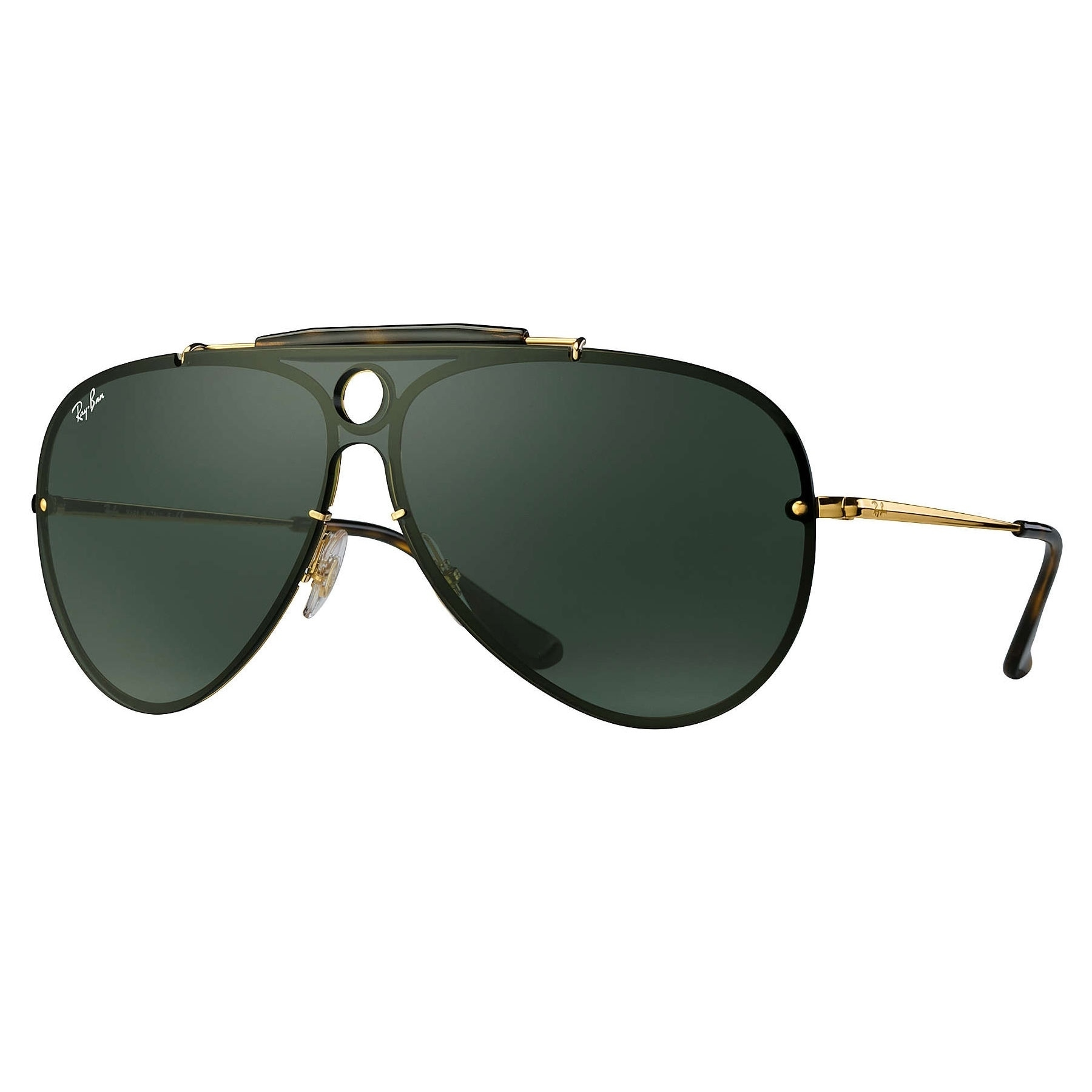 581ad040e4 Ray-Ban RB3581N Blaze Shooter Sunglasses Gold  Green Classic 32mm - Black