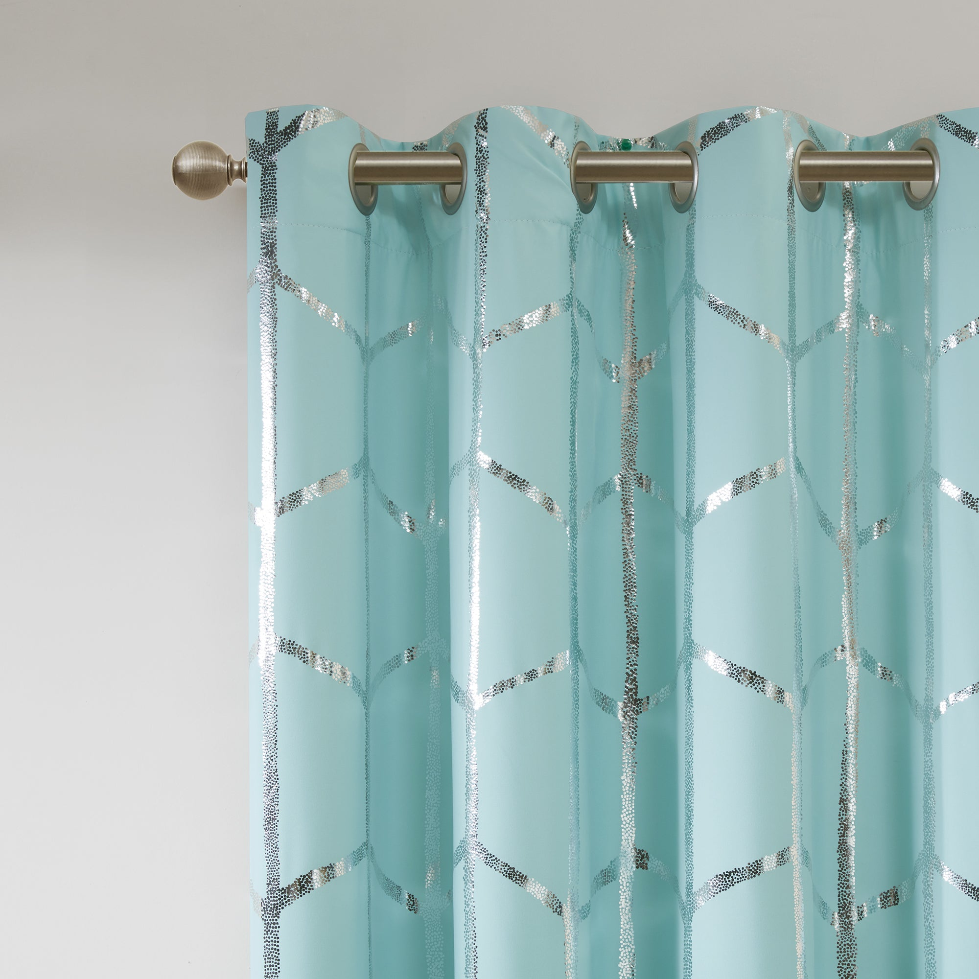 Intelligent Design Khloe Blackout Metallic Printed Curtain Panel