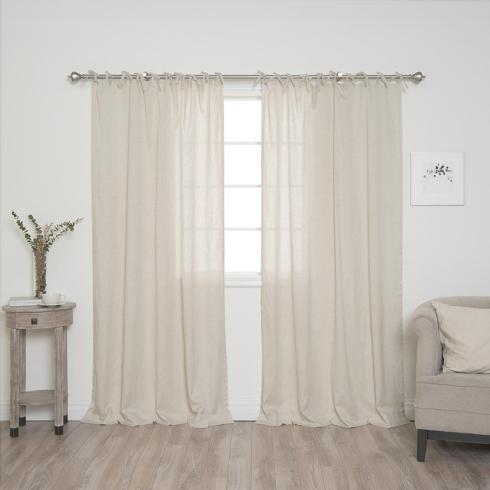 linen curtain home l premier blackout collections curtains textured versailtex faux decor h plaid beige panel