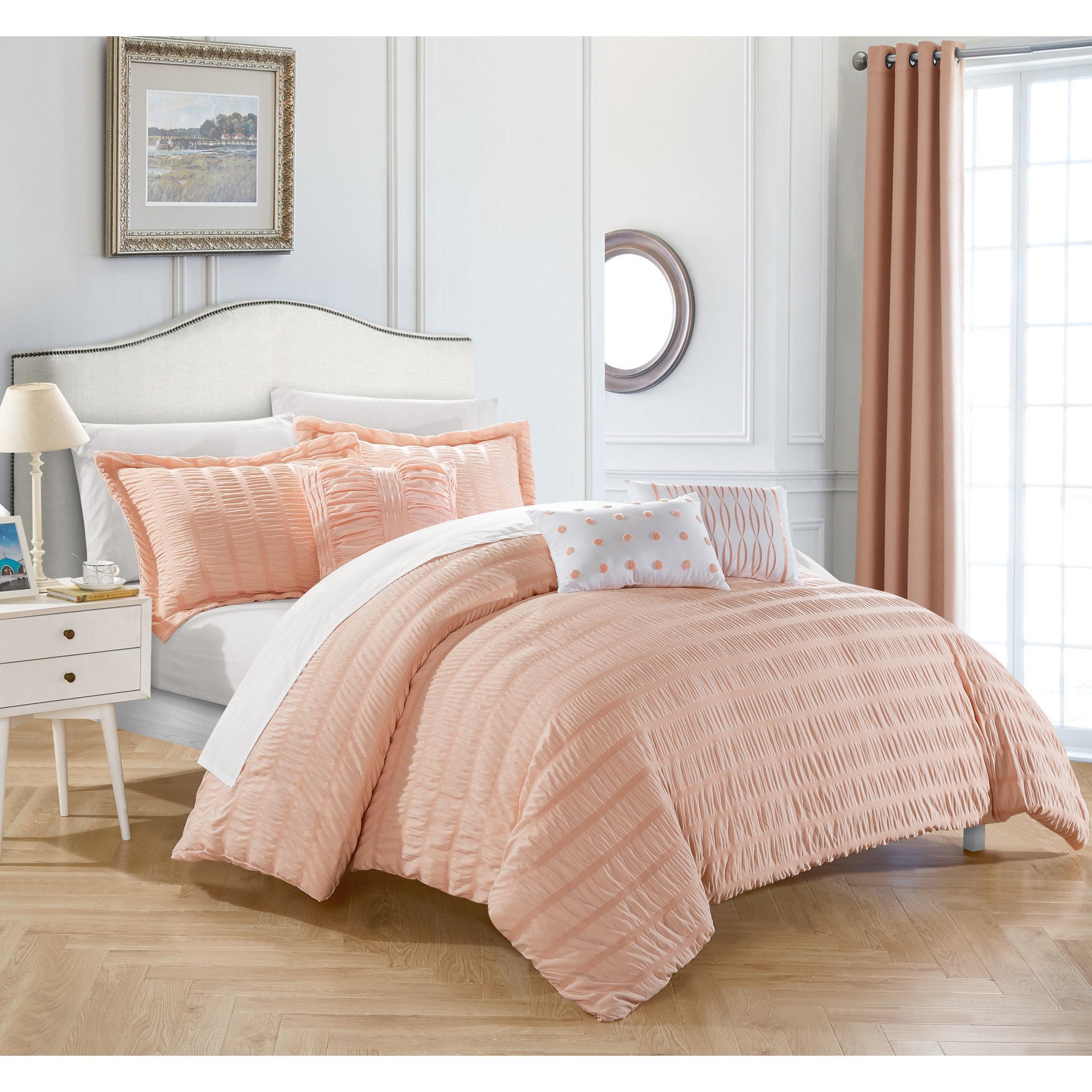 ip geo bed comforter coral in bag com bedding mainstays walmart set a