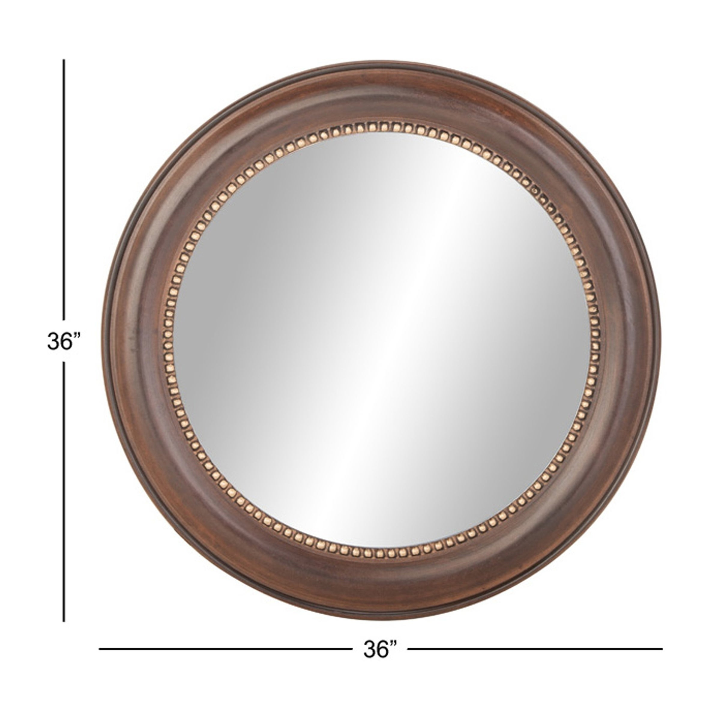 Shop Industrial Brown Wooden Round Mirror Frame (36 in.) - Free ...