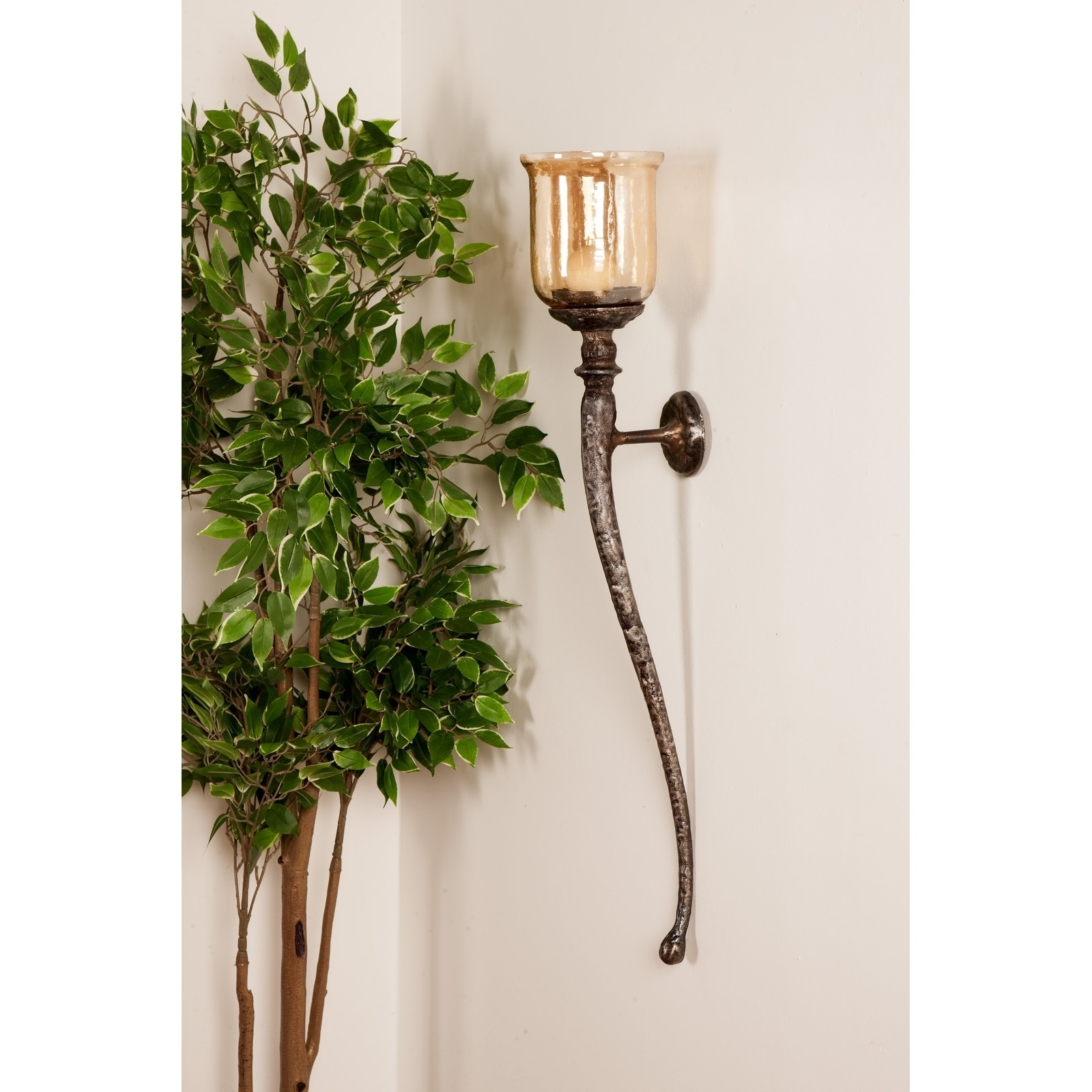 Shop set of 2 traditional 34 inch wall mounted candle holders free shipping today overstock com 20460387