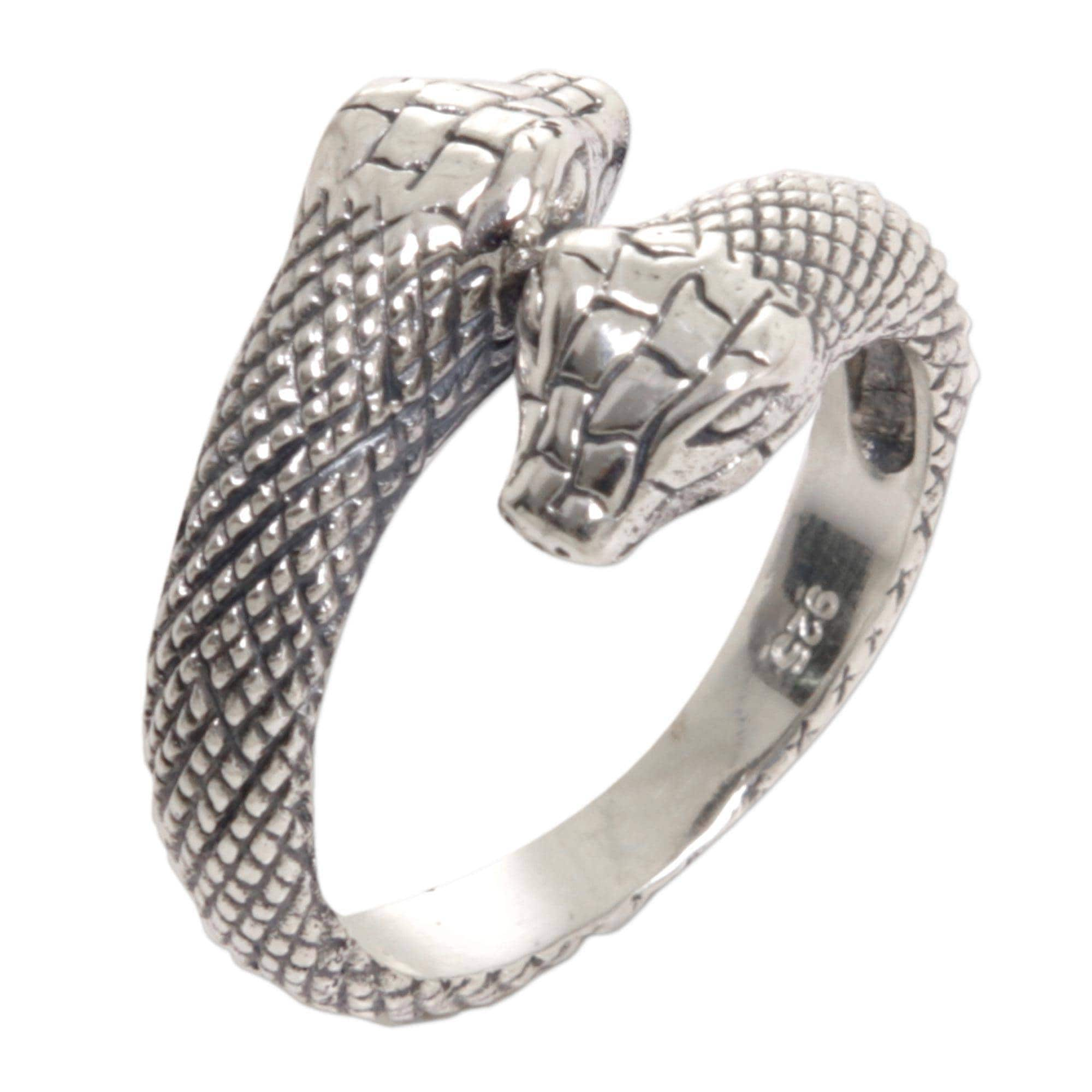 snakes serpent rattle tail ouroboros sweet double products snake ring rings img