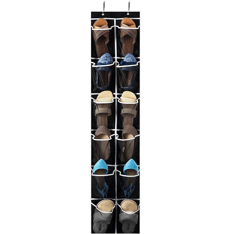 Shop Narrow Over The Door Shoe Organizer With 12 Mesh Pockets