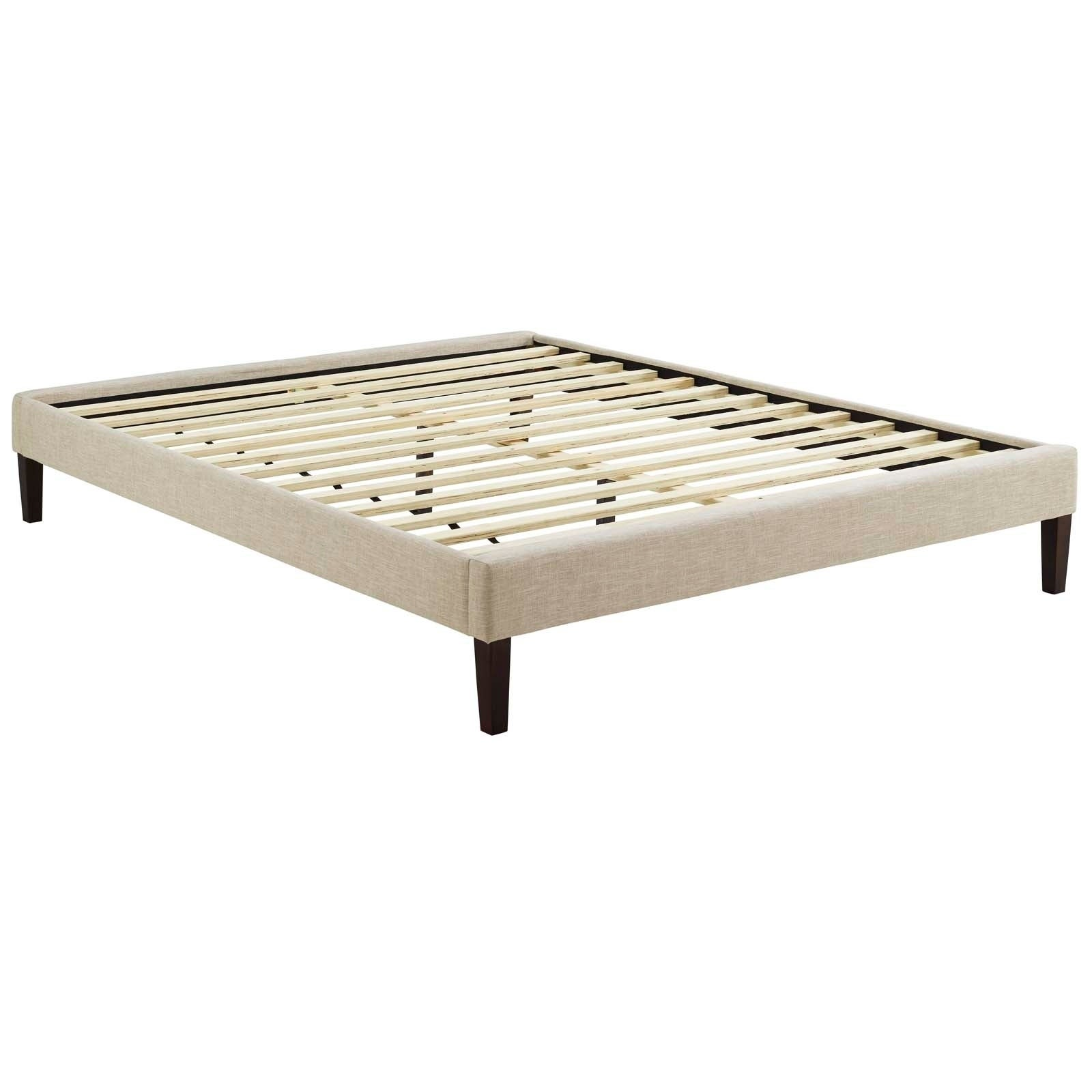 Shop Tessie King Bed Frame with Squared Tapered Legs - On Sale ...