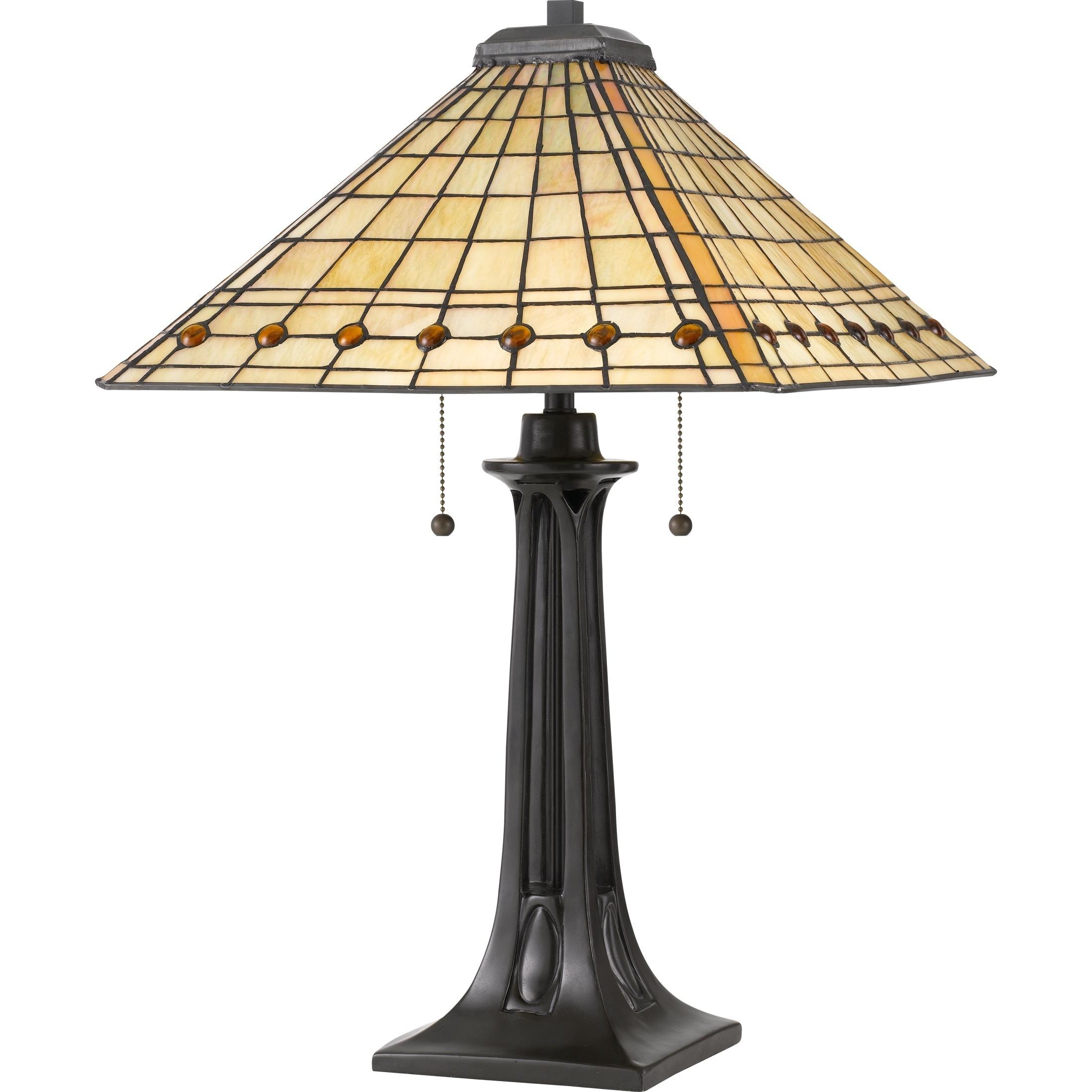 Shop Quoizel Braden Vintage Bronze Tiffany Table Lamp Free