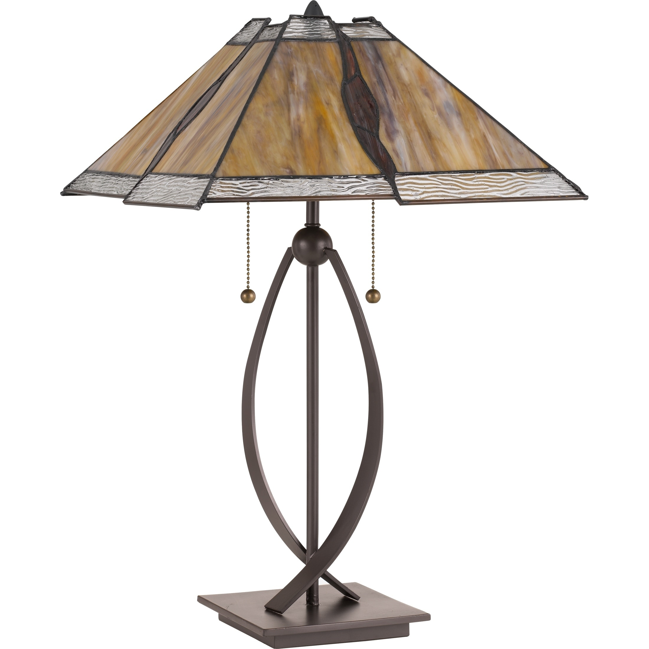 Shop Quoizel Cavern Western Bronze Tiffany Table Lamp Free