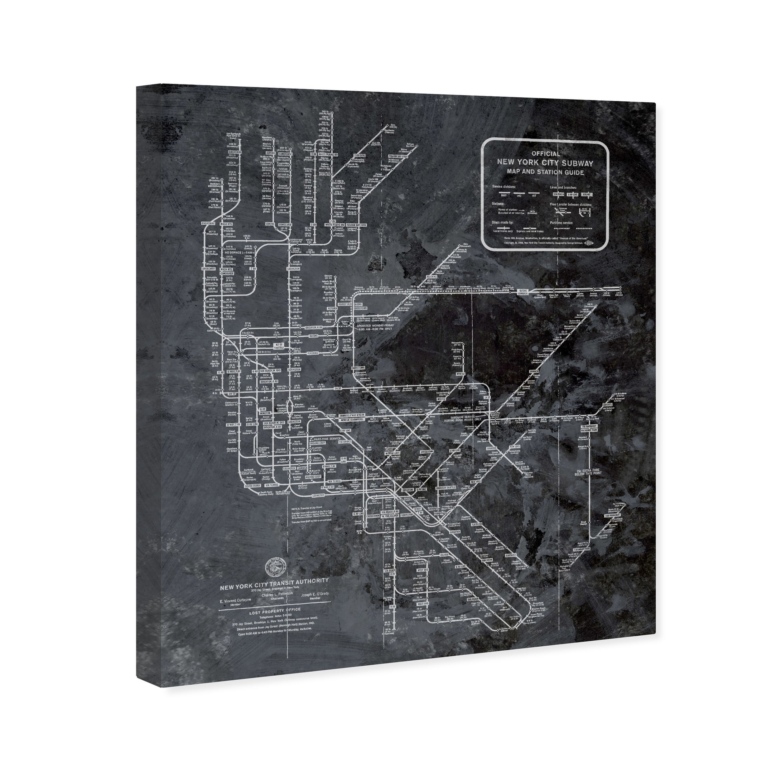 Black And White Subway Map Tapestry.Oliver Gal Ny Subway Map Dark Rustic Maps And Flags Wall Art Canvas Print Black White