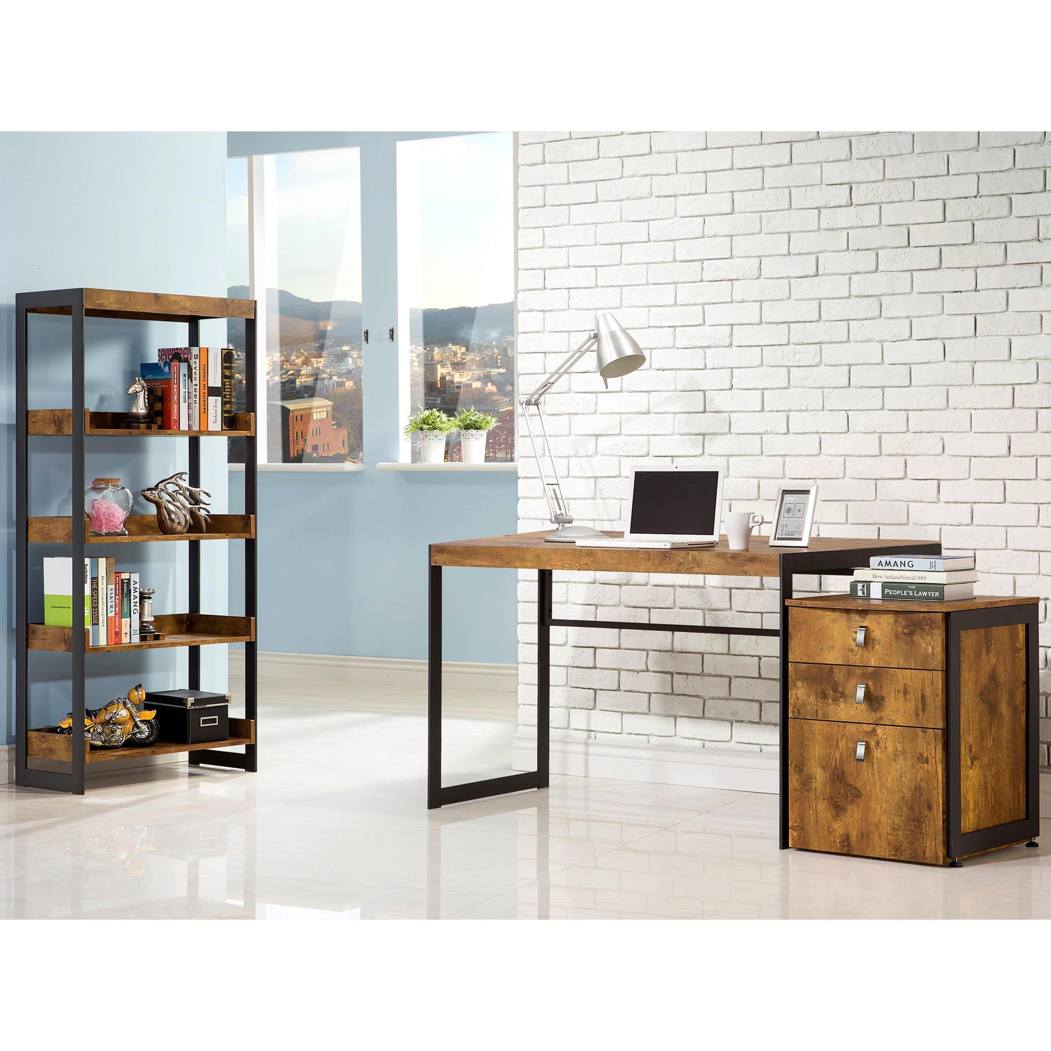 Carbon Loft Jess Mid Century Industrial Home Office Collection