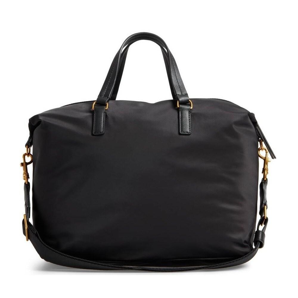 9a4401b8382 Shop Tory Burch Scout Black Nylon Satchel Handbag - Free Shipping ...
