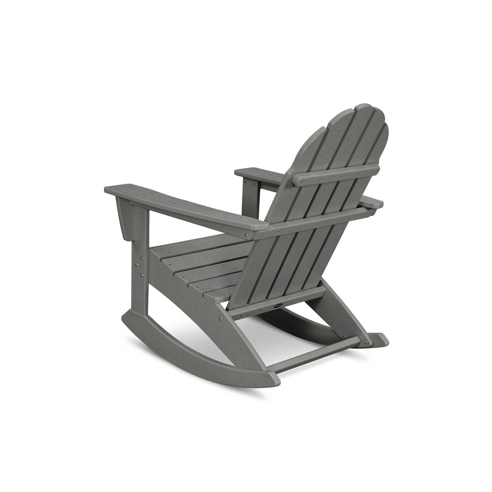 Shop Polywood Vineyard Outdoor Adirondack Rocking Chair Free