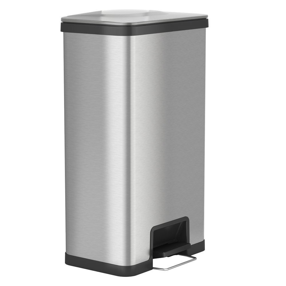 Shop ITouchless AirStep 18 Gallon Step On Kitchen Stainless Steel, Trash Can  With Odor Control System, Silent And Gentle Lid Close.