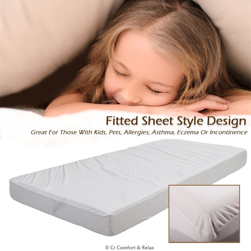 Shop Cr Twin Size Waterproof Mattress Protector Fits Up To 18