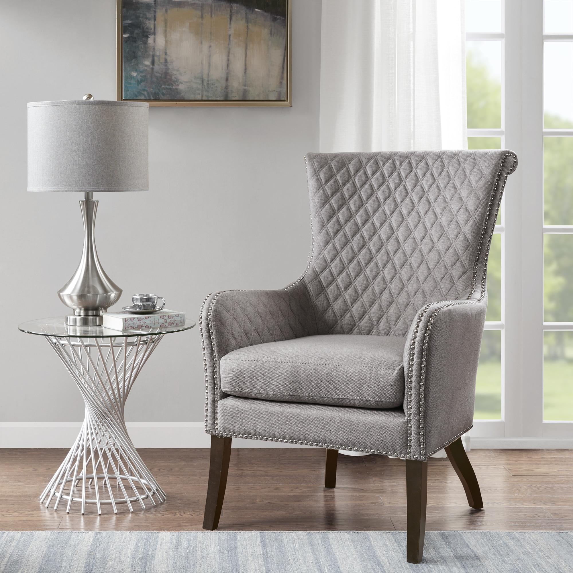 Superbe Madison Park Lea Light Grey Accent Chair