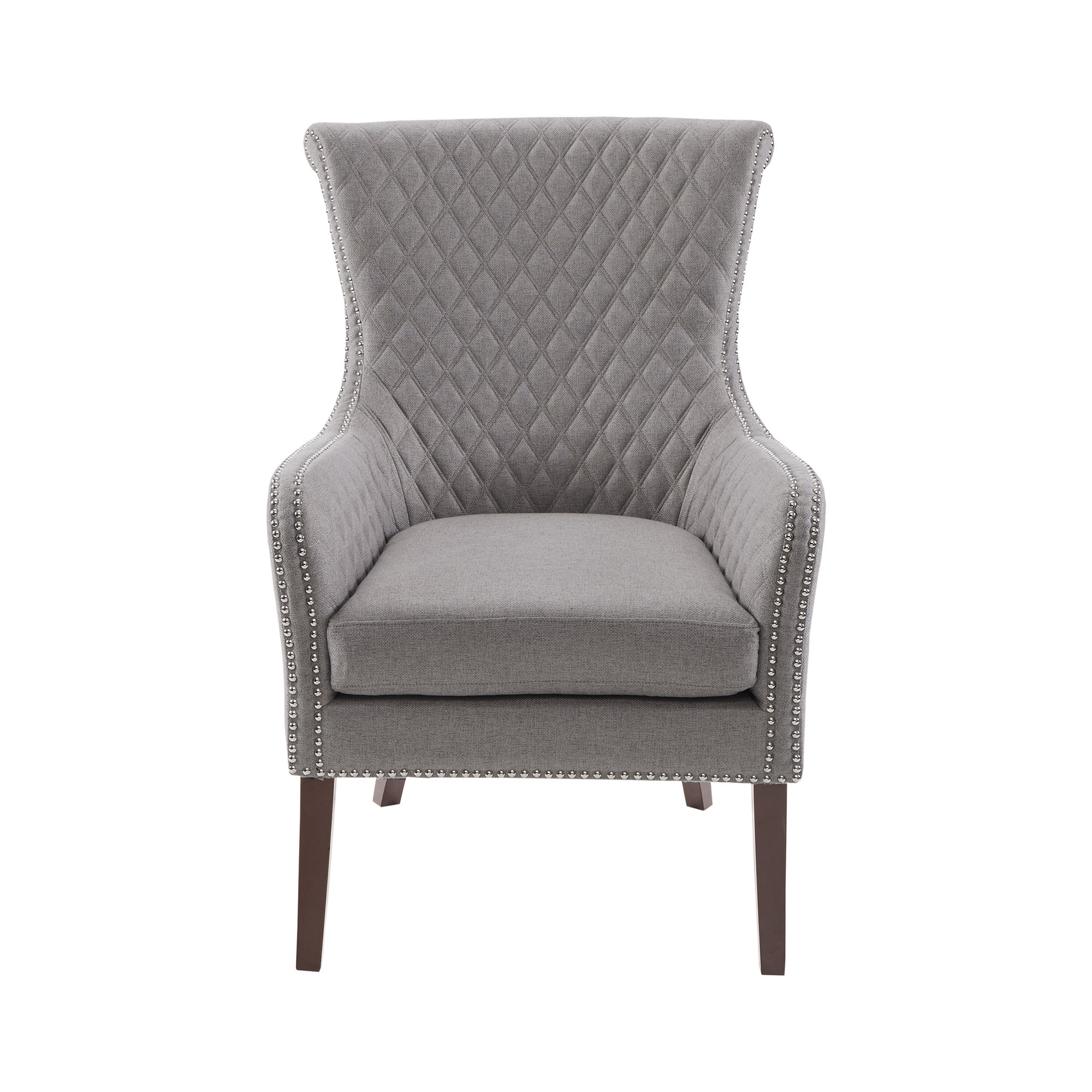 Madison Park Lea Light Grey Accent Chair   Free Shipping Today   Overstock    26359812