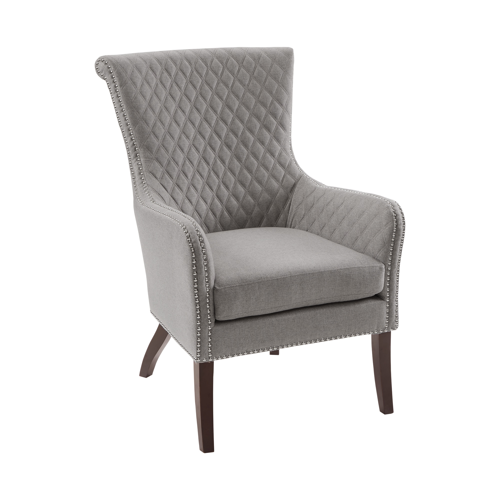 Shop Madison Park Lea Light Grey Accent Chair   On Sale   Free Shipping  Today   Overstock.com   20505003