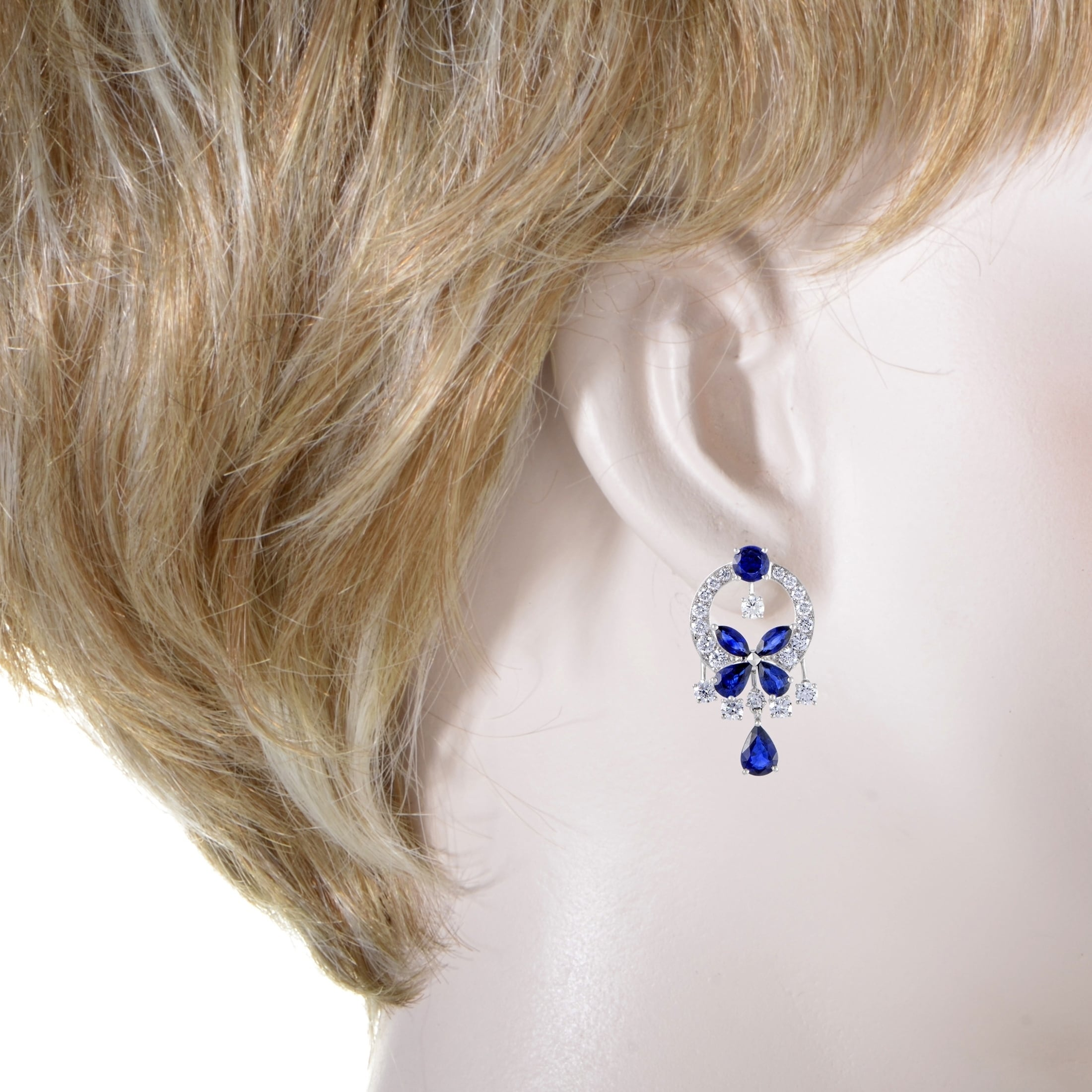 platinum designed and lot webb lg with estee diamonds lauder by earrings sapphires david detail pearls owned