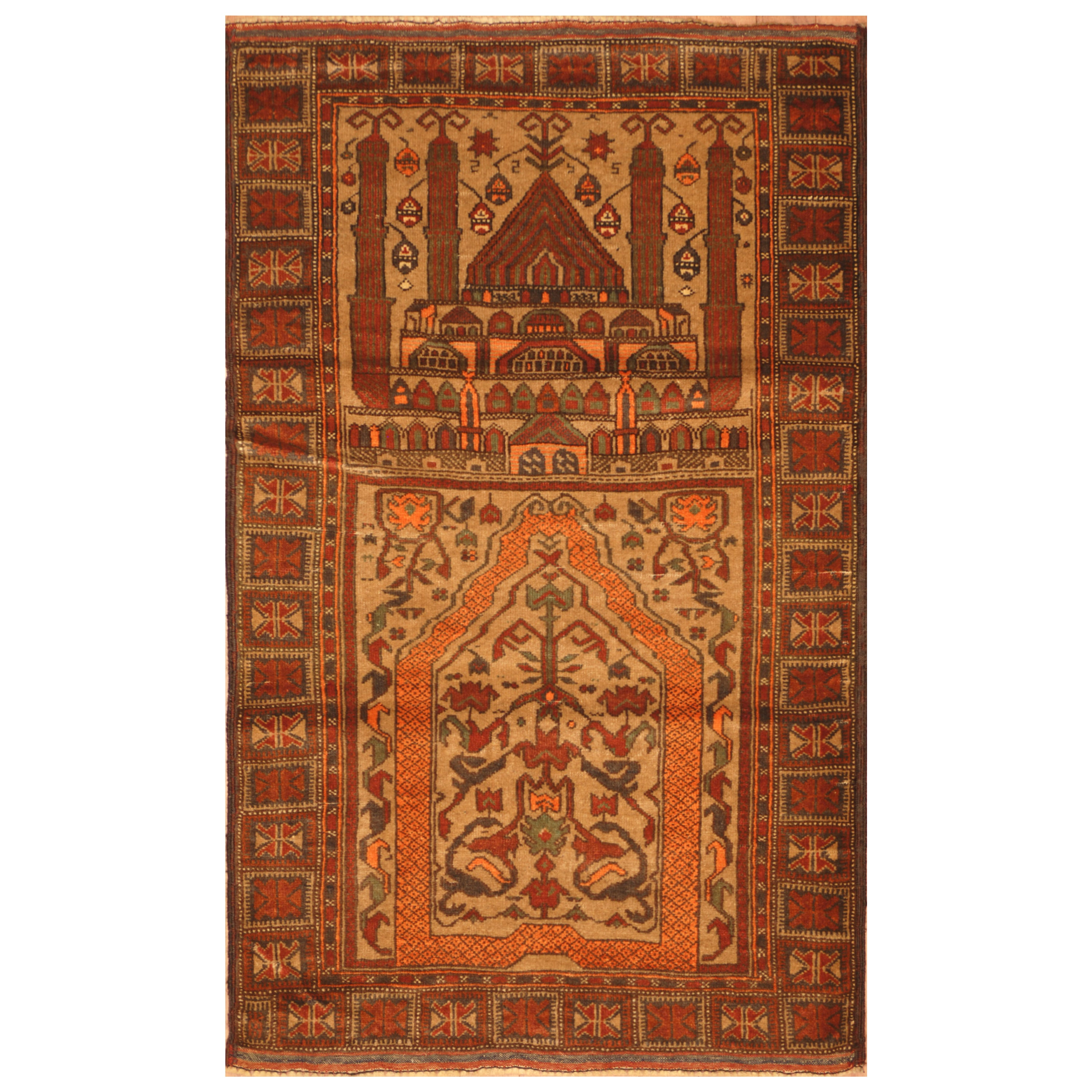 Shop Handmade Herat Oriental Afghan Hand-knotted Semi-Antique 1960\'s ...