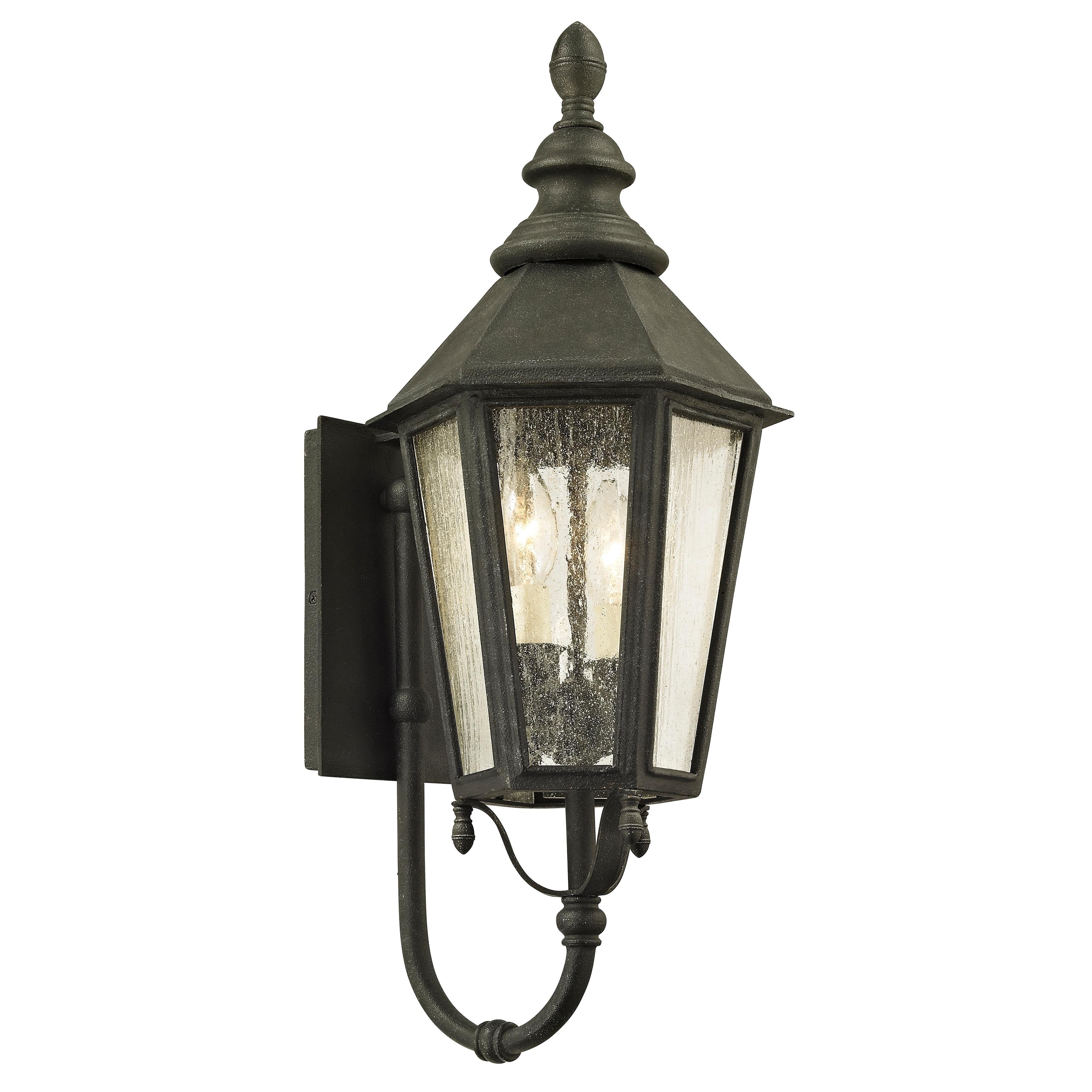 Troy lighting savannah 2 light vintage iron outdoor wall sconce