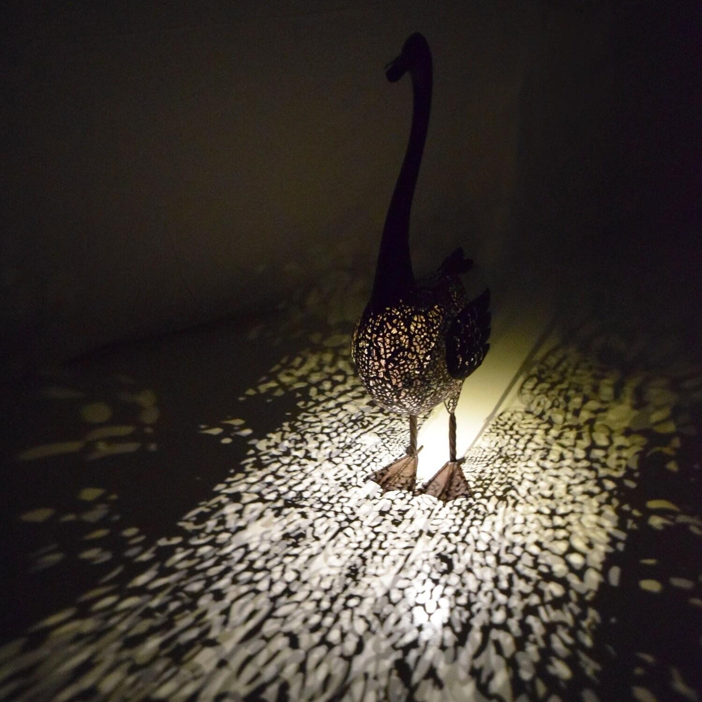 203 Inch Steel Indooroutdoor Bird Statue With Solar Light