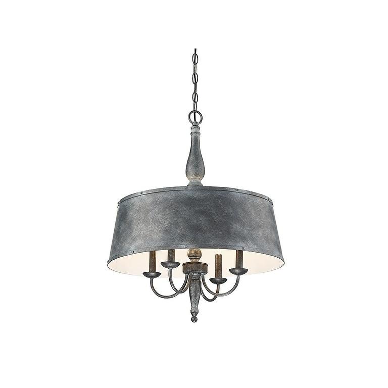 shop dover farmhouse tin metal 4 light chandelier free shipping