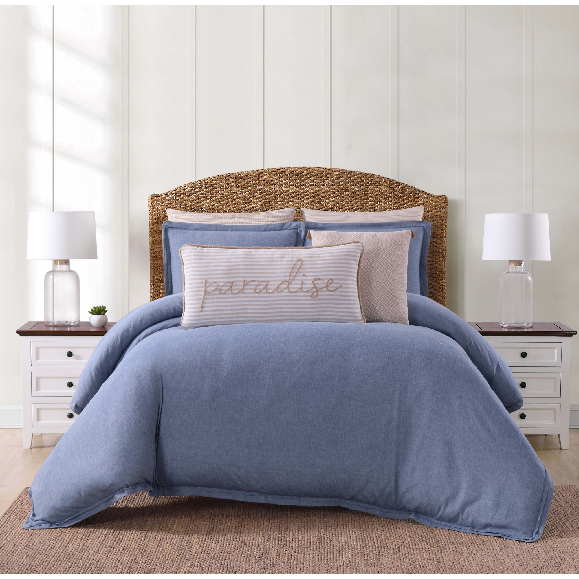floral product nouvelle bath cover overstock cotton reversible set today bedding chambray shipping duvet free home