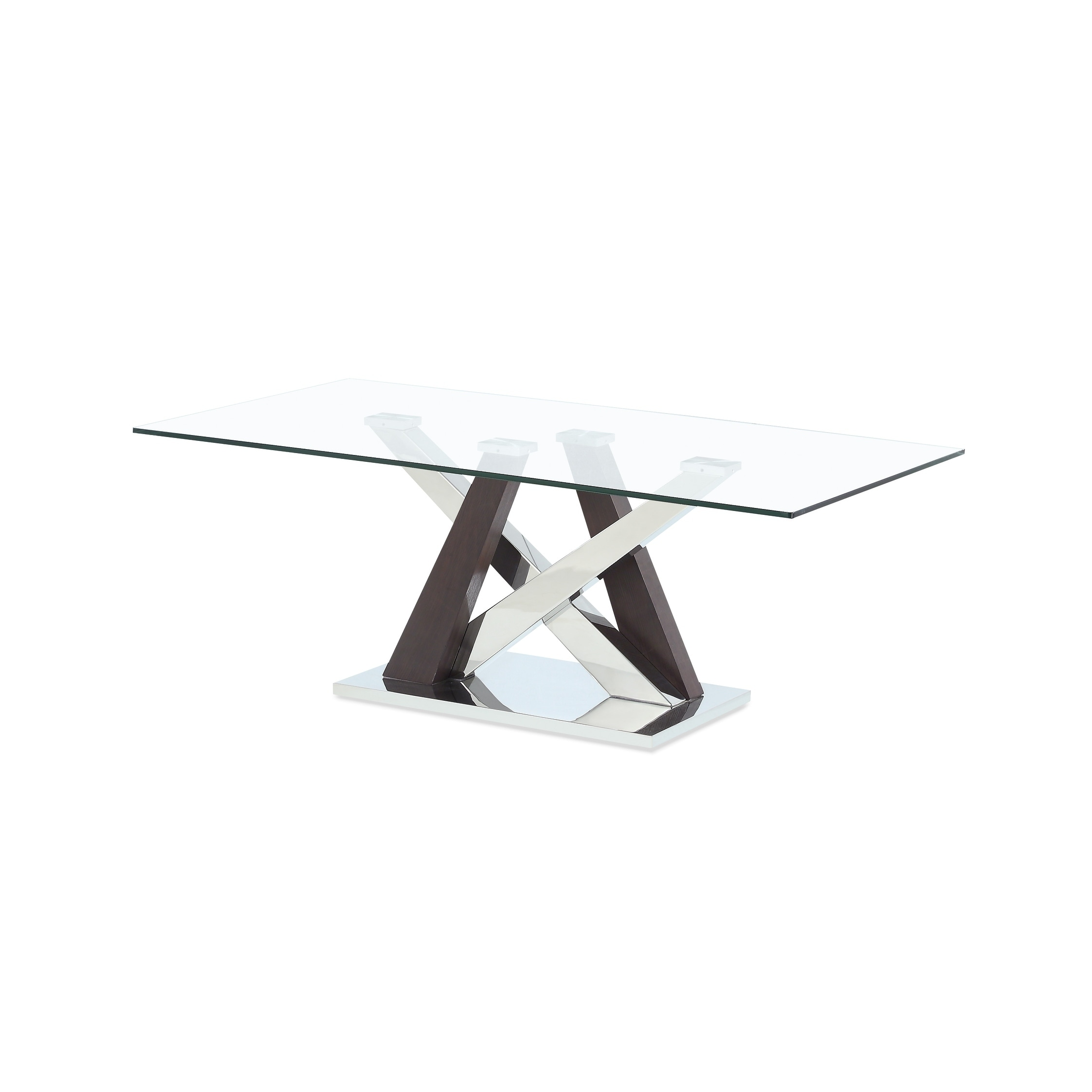 Global Furniture Gl Coffee Table With Wenge Chrome Base Free Shipping Today 20526094