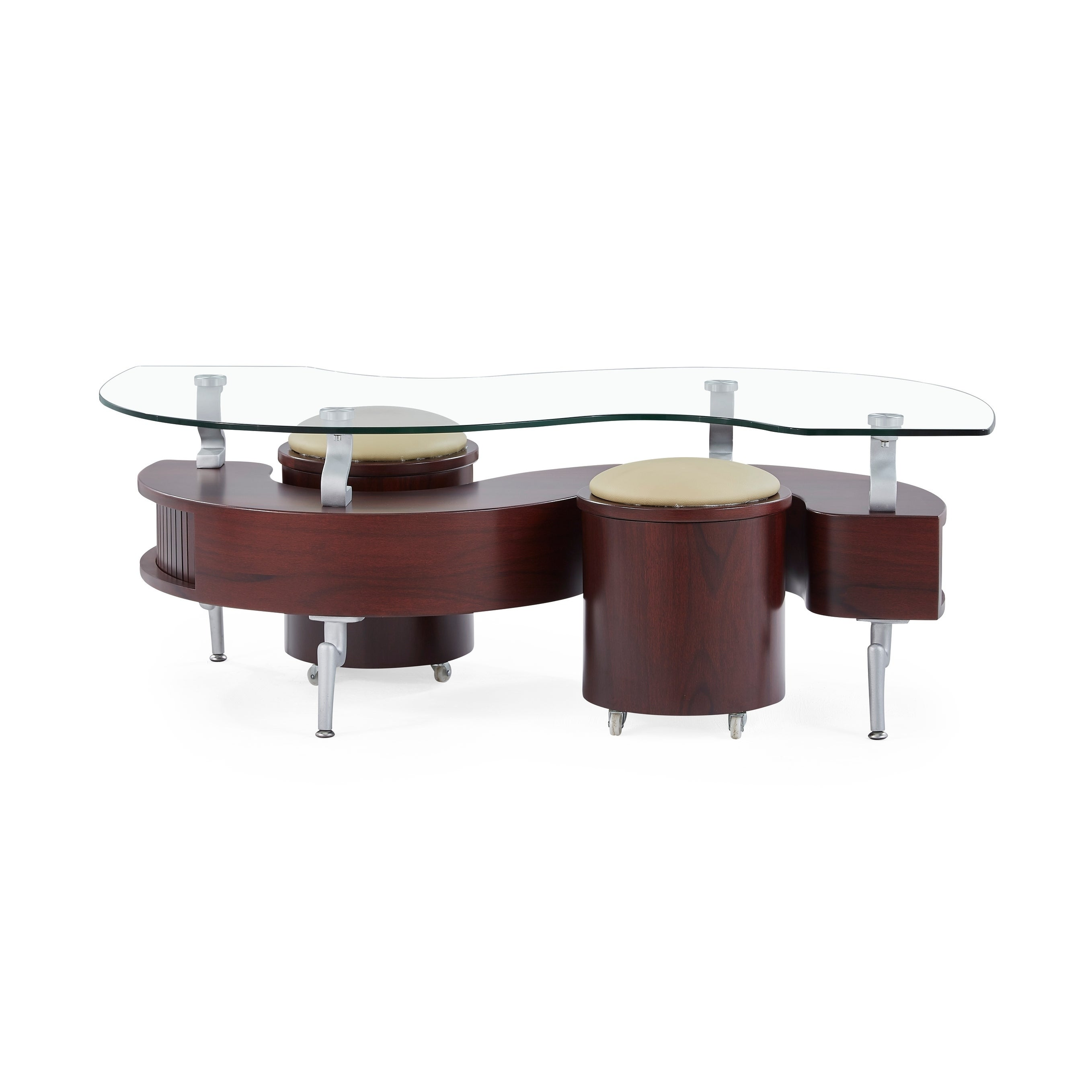 Global Furniture Mahogany Coffee Table With Cuccino Cushions Free Shipping Today 20526508