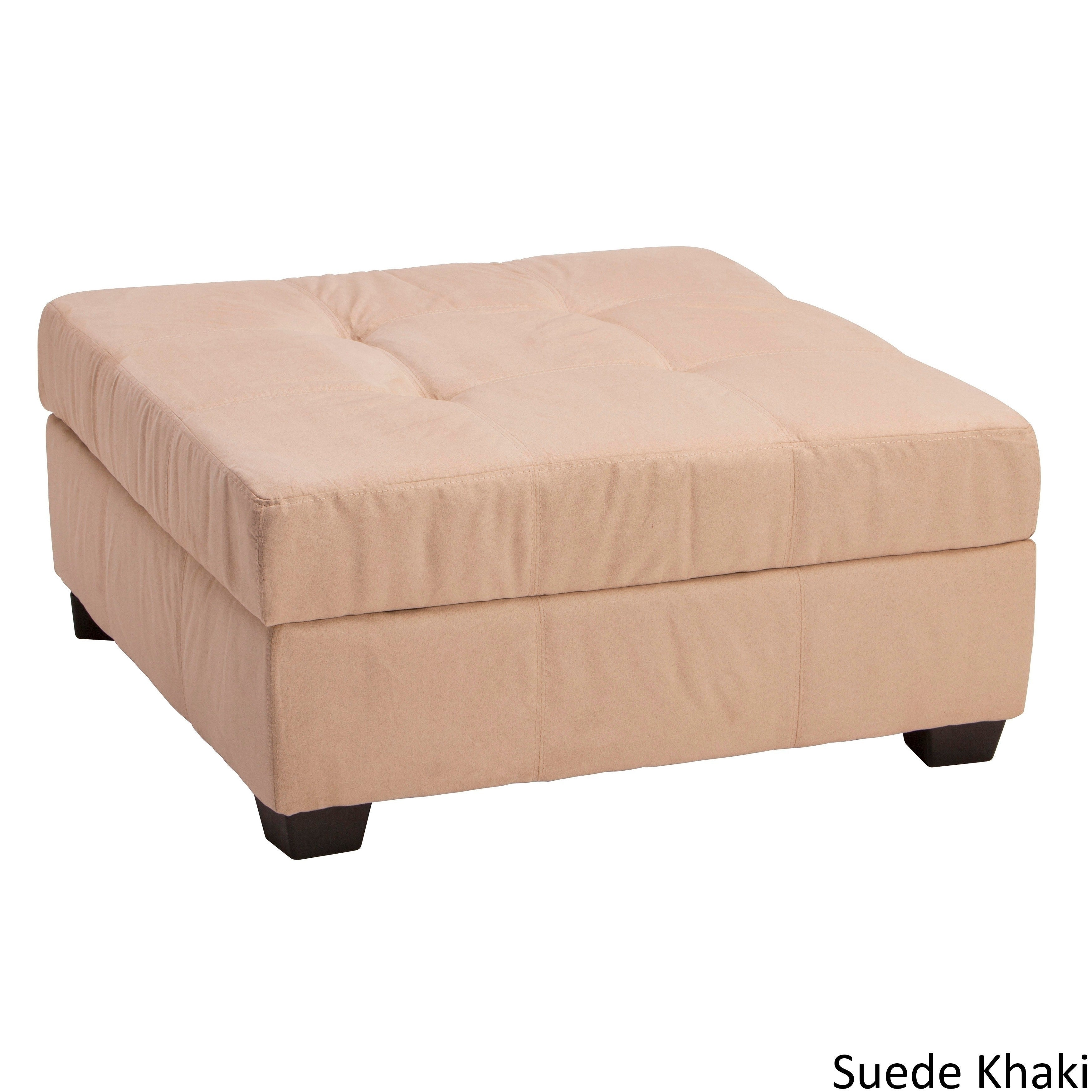 Clay Alder Home Malad 36 Inch Square Hinged Storage Bench Ottoman On Free Shipping Today 20528281