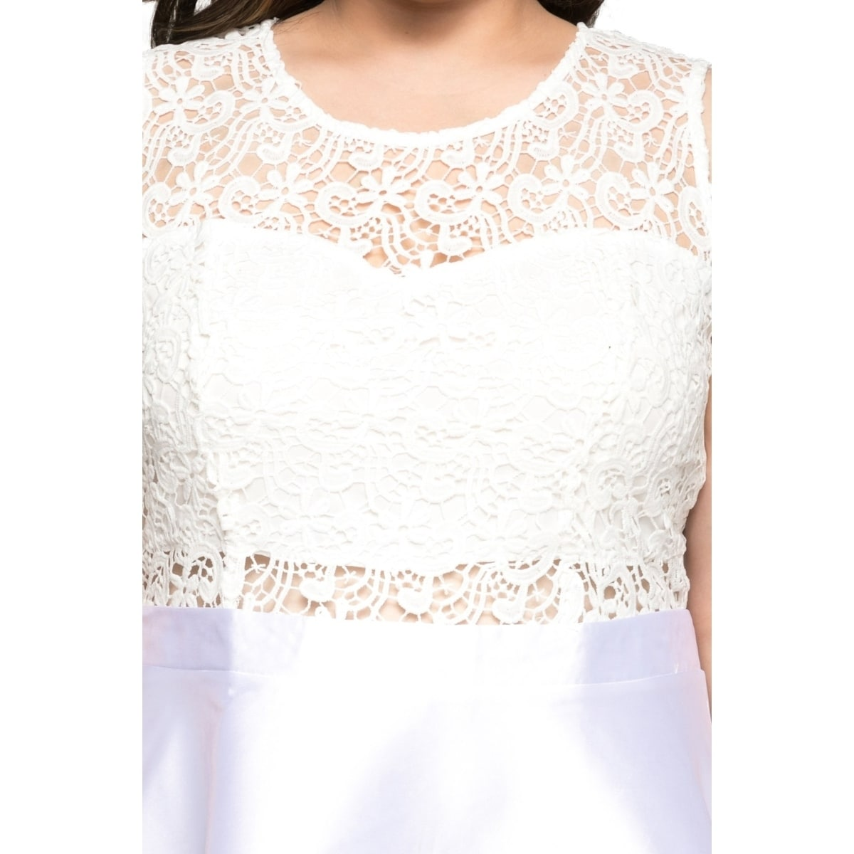 03fa460b210 Shop Xehar Womens Plus Size Sleeveless Lace Top Evening Party Short Dress -  Free Shipping Today - Overstock - 20529629