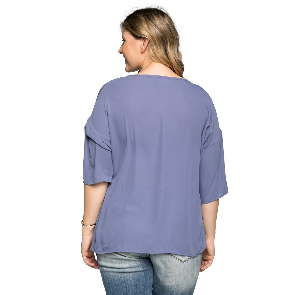 015f483c071 Shop Xehar Women s Plus Size Casual Fancy Blouse Tunic Top - Free Shipping  On Orders Over  45 - Overstock - 20529712