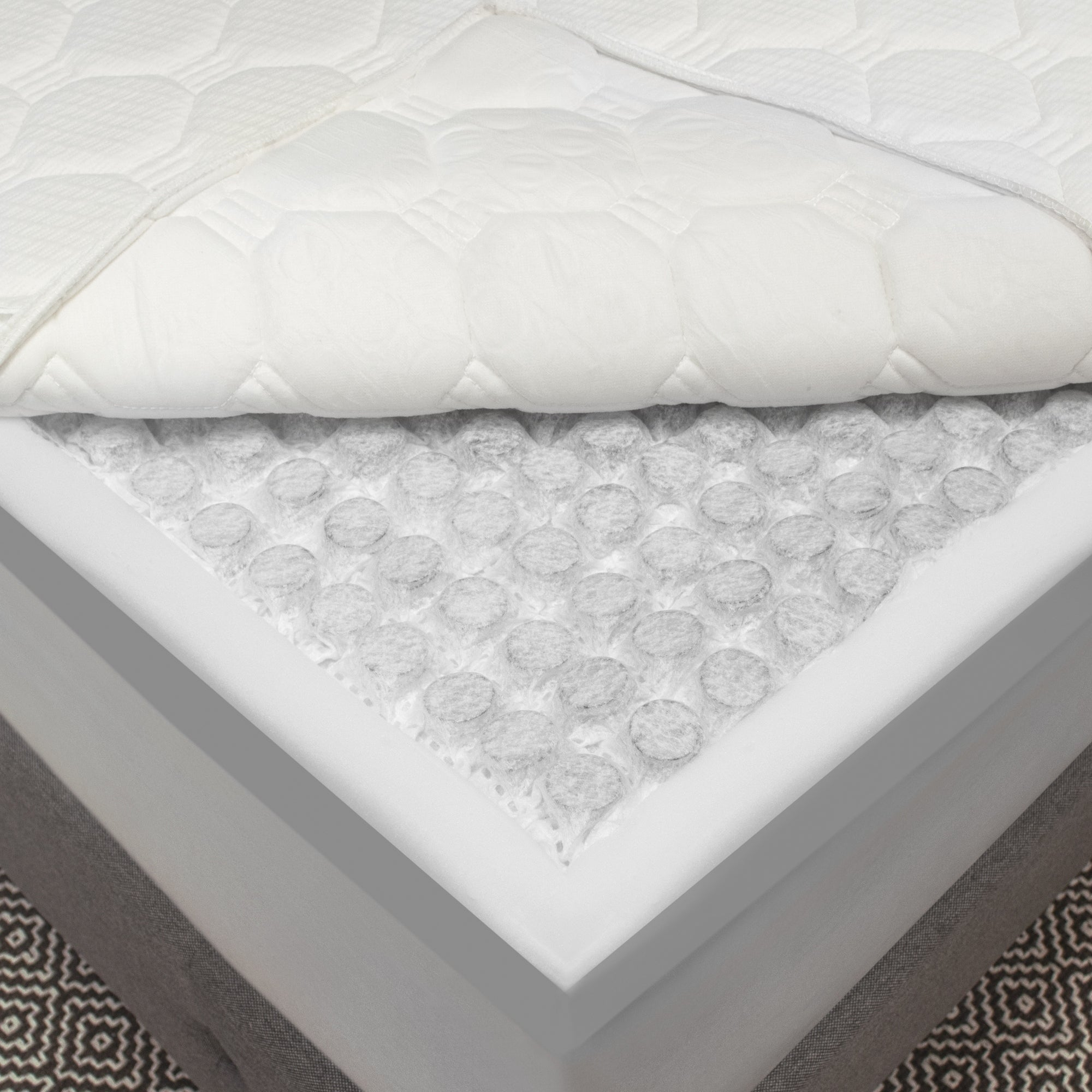 68cc9b86442b Shop SwissLux 3.5-inch Hybrid Micro Coil and Memory Foam Mattress Topper - Free  Shipping Today - Overstock - 20538889
