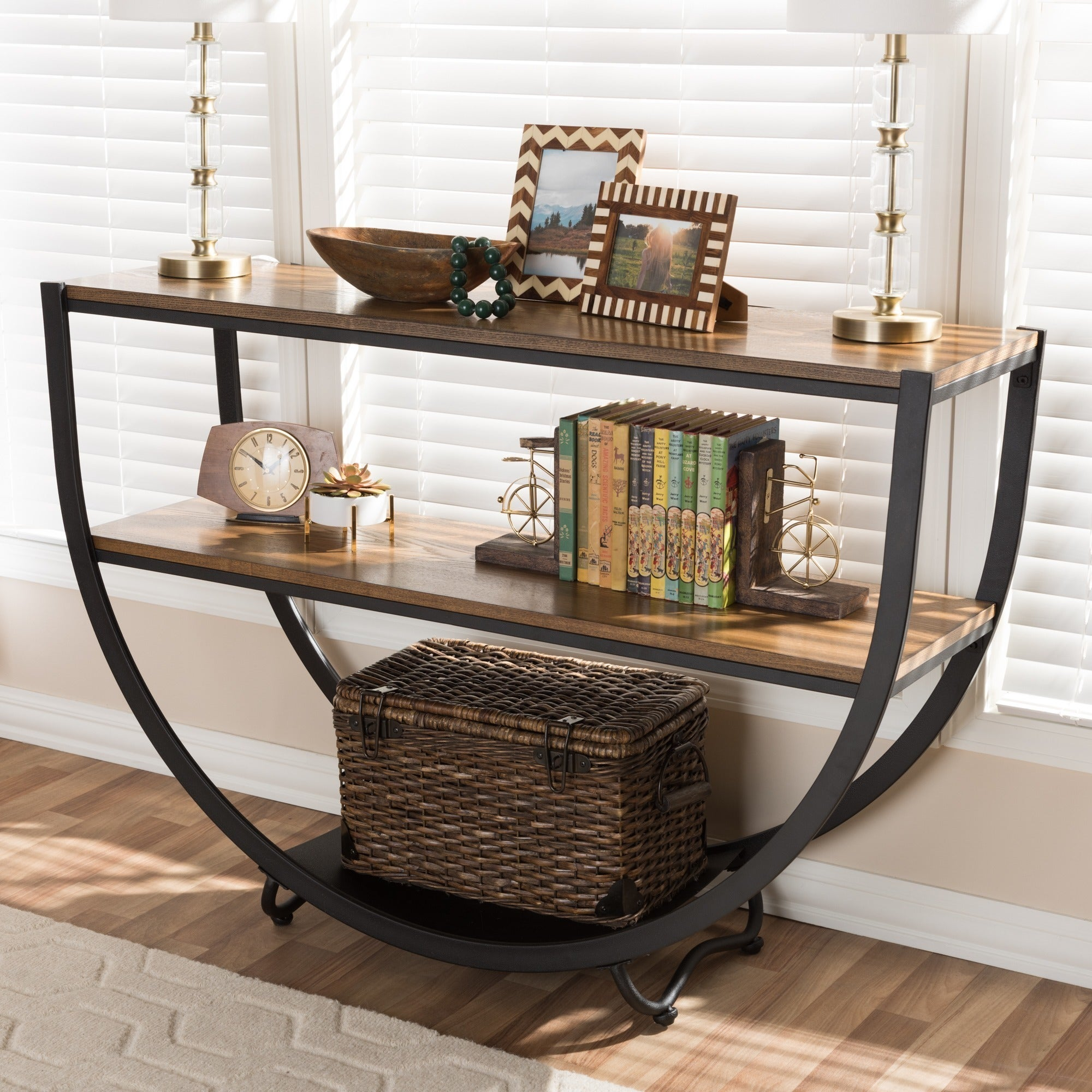 Shop carbon loft cohn vintage industrial console table free shipping today overstock com 20543628