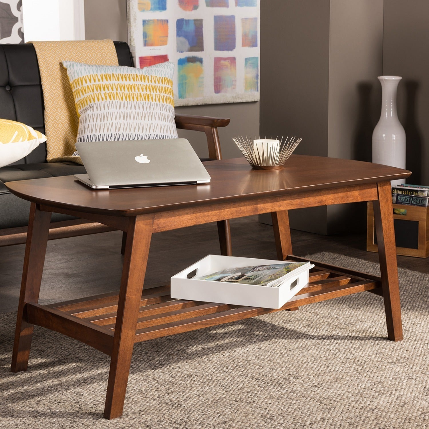 Carson Carrington Karkkila Mid Century Modern Scandinavian Style Dark Walnut Coffee Table Free Shipping Today 20543630